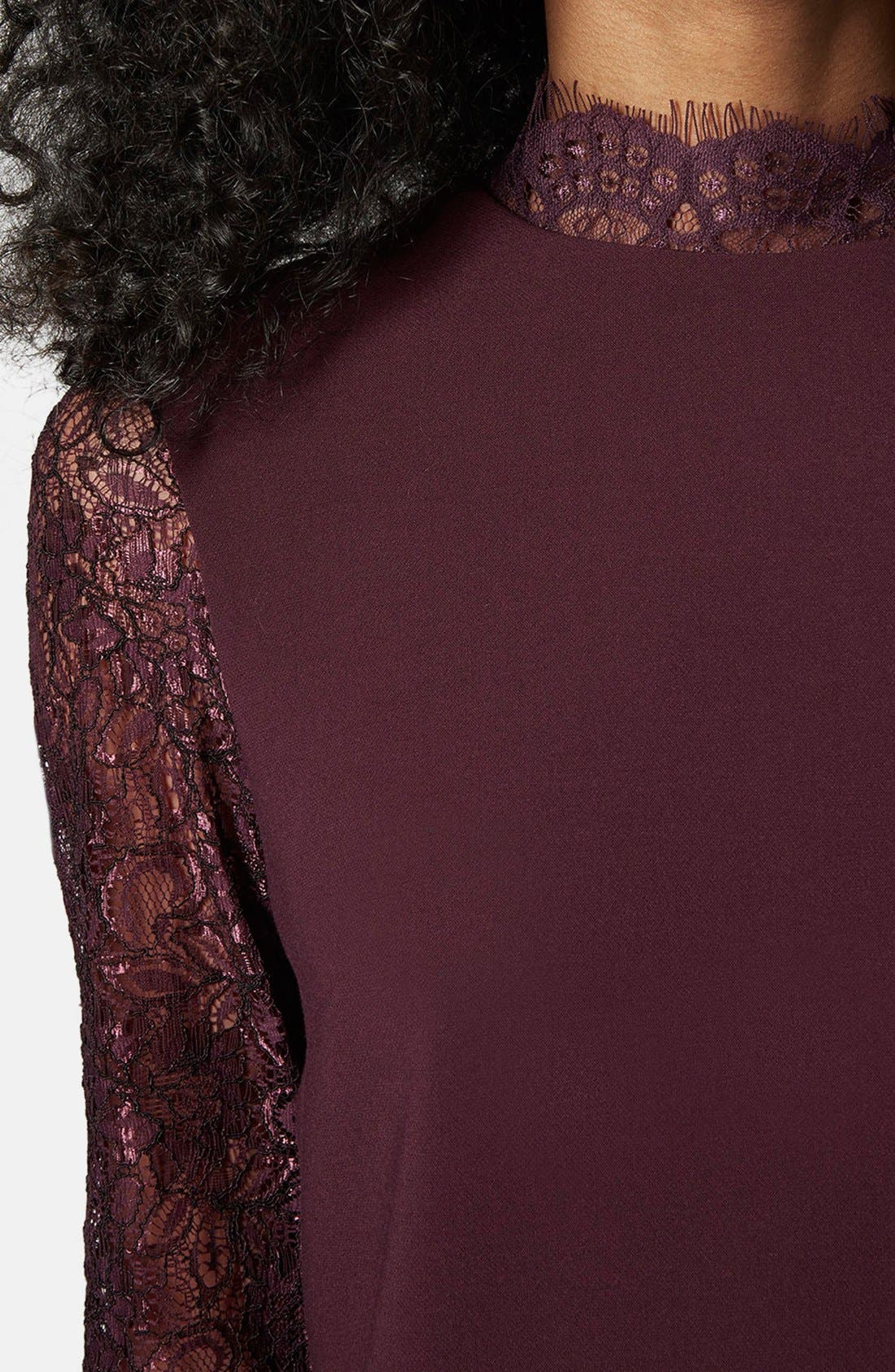 Alternate Image 4  - Topshop Mock Neck Shift Dress