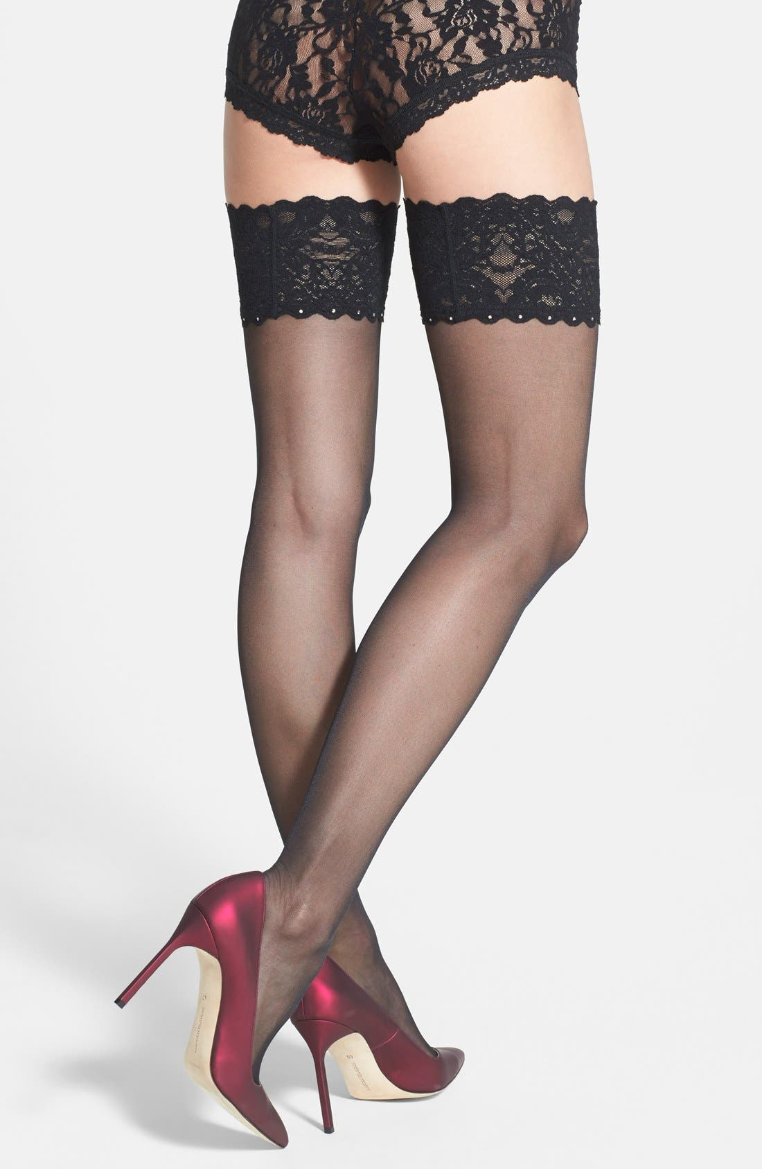 Alternate Image 2  - Wolford Embellished Thigh High Tights