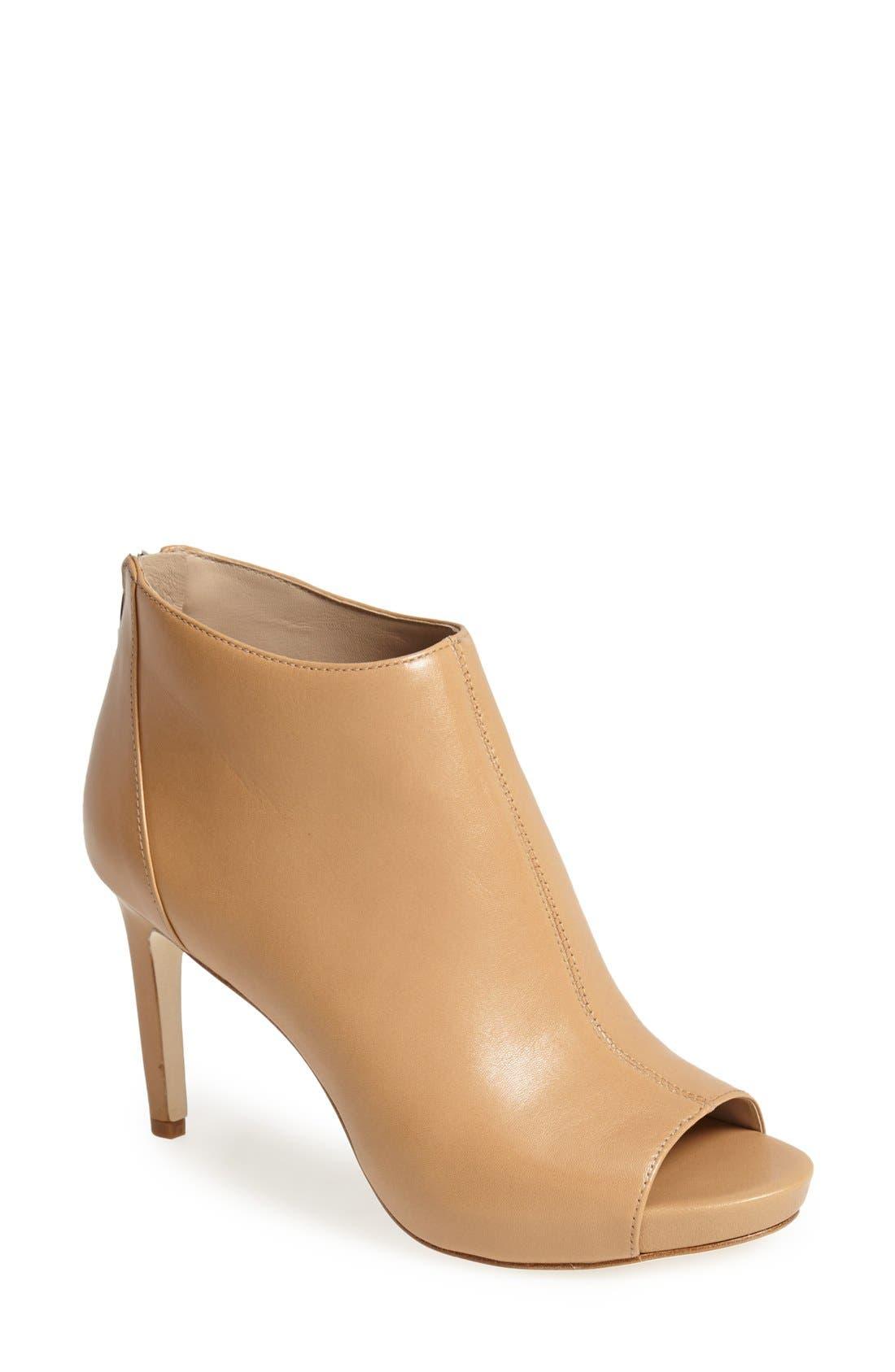 Main Image - Via Spiga 'Nessa 2' Leather Open Toe Bootie (Women)
