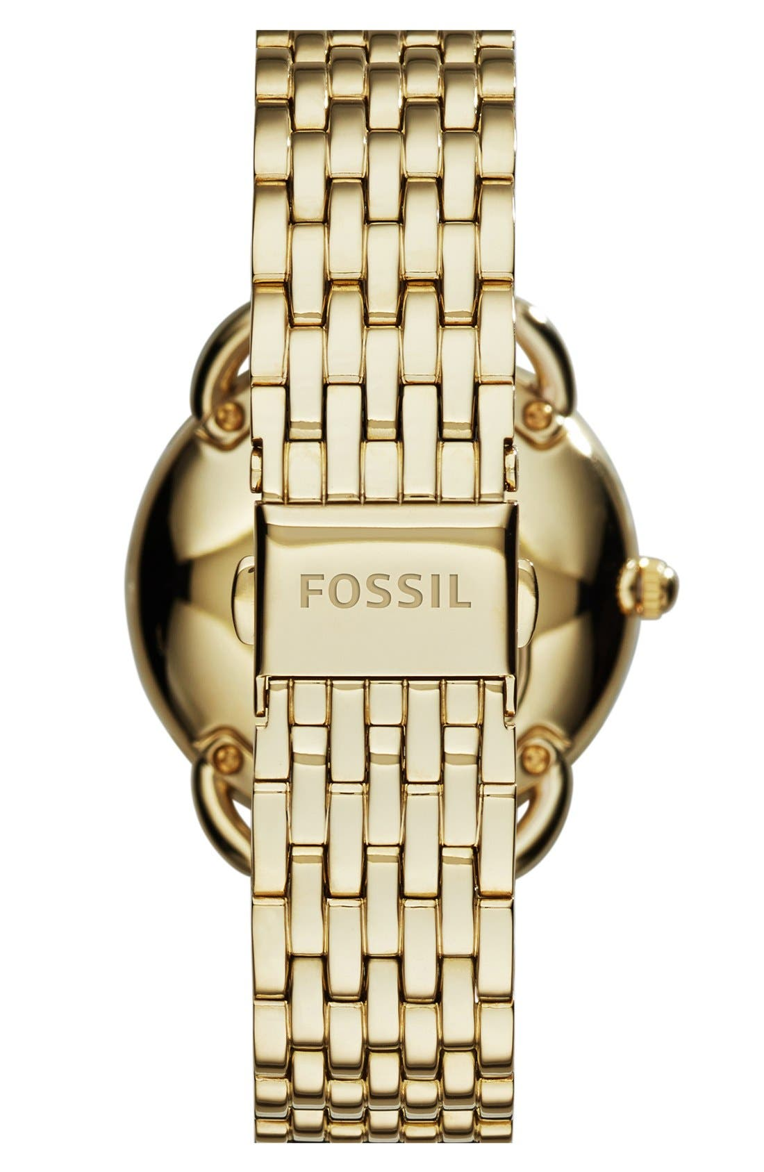 Alternate Image 2  - Fossil 'Tailor' Multifunction Bracelet Watch, 16mm