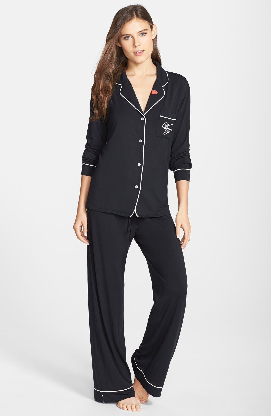 Main Image - Wildfox 'Love Is Everything' Jersey Pajamas