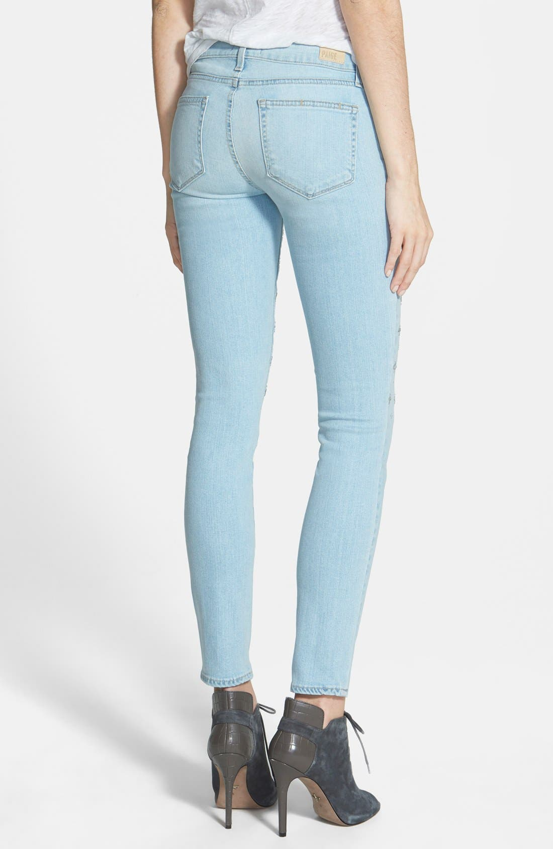 Alternate Image 2  - Paige Denim 'Verdugo' Ultra Skinny Jeans (Naomi Embellished)