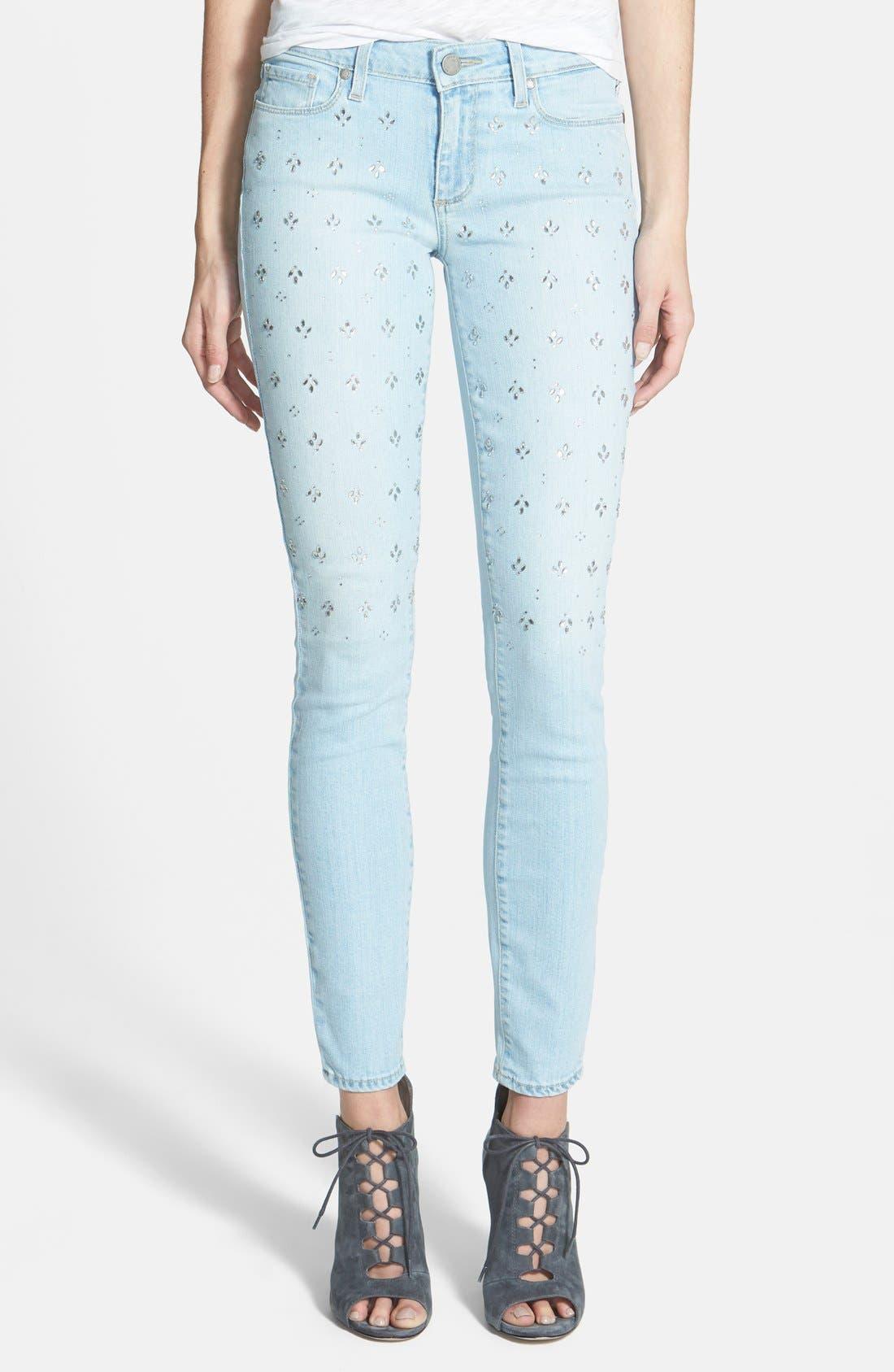 Alternate Image 1 Selected - Paige Denim 'Verdugo' Ultra Skinny Jeans (Naomi Embellished)