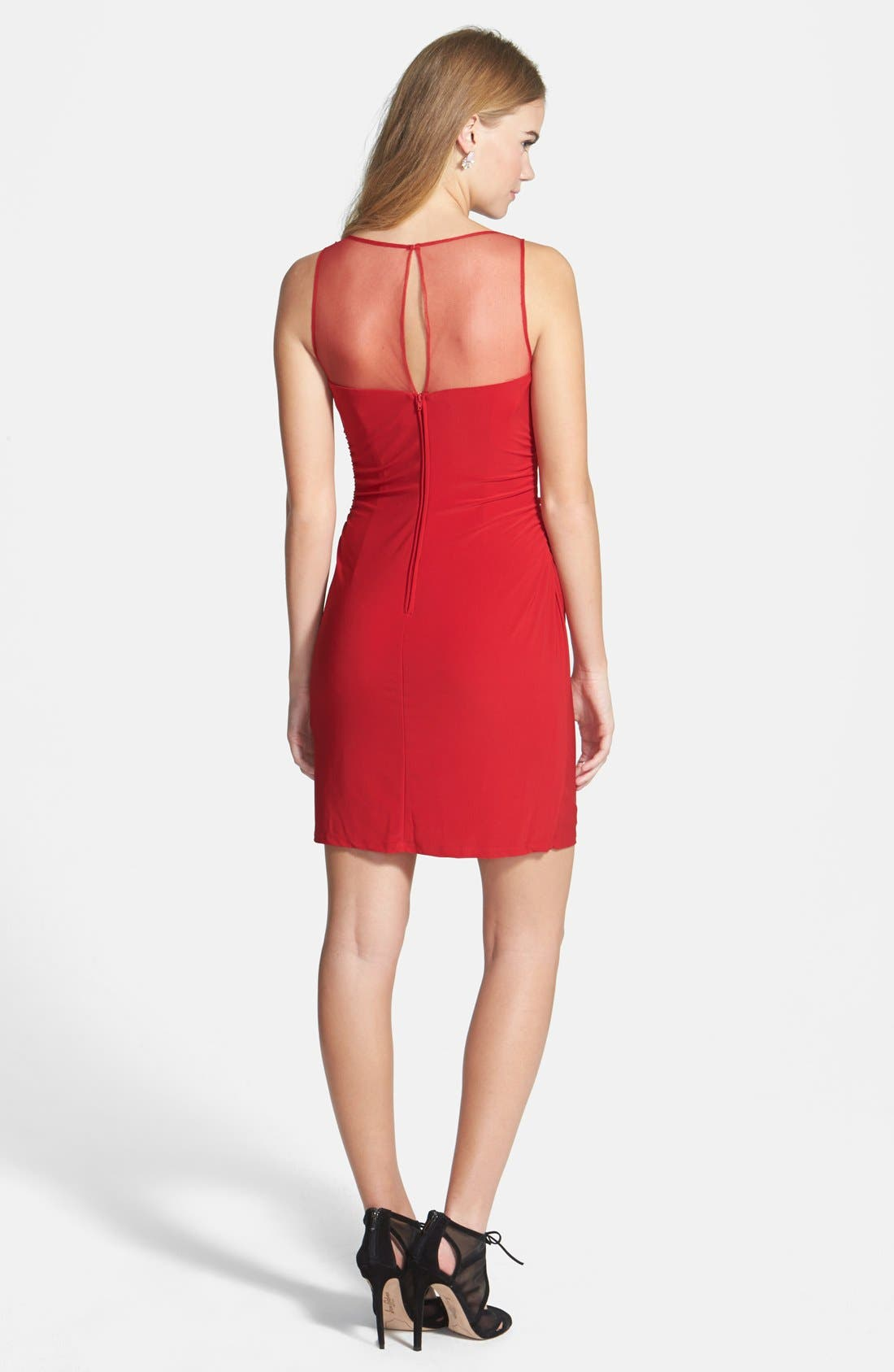 Alternate Image 2  - Hailey Logan Jeweled Illusion Yoke Body-Con Dress (Online Only)
