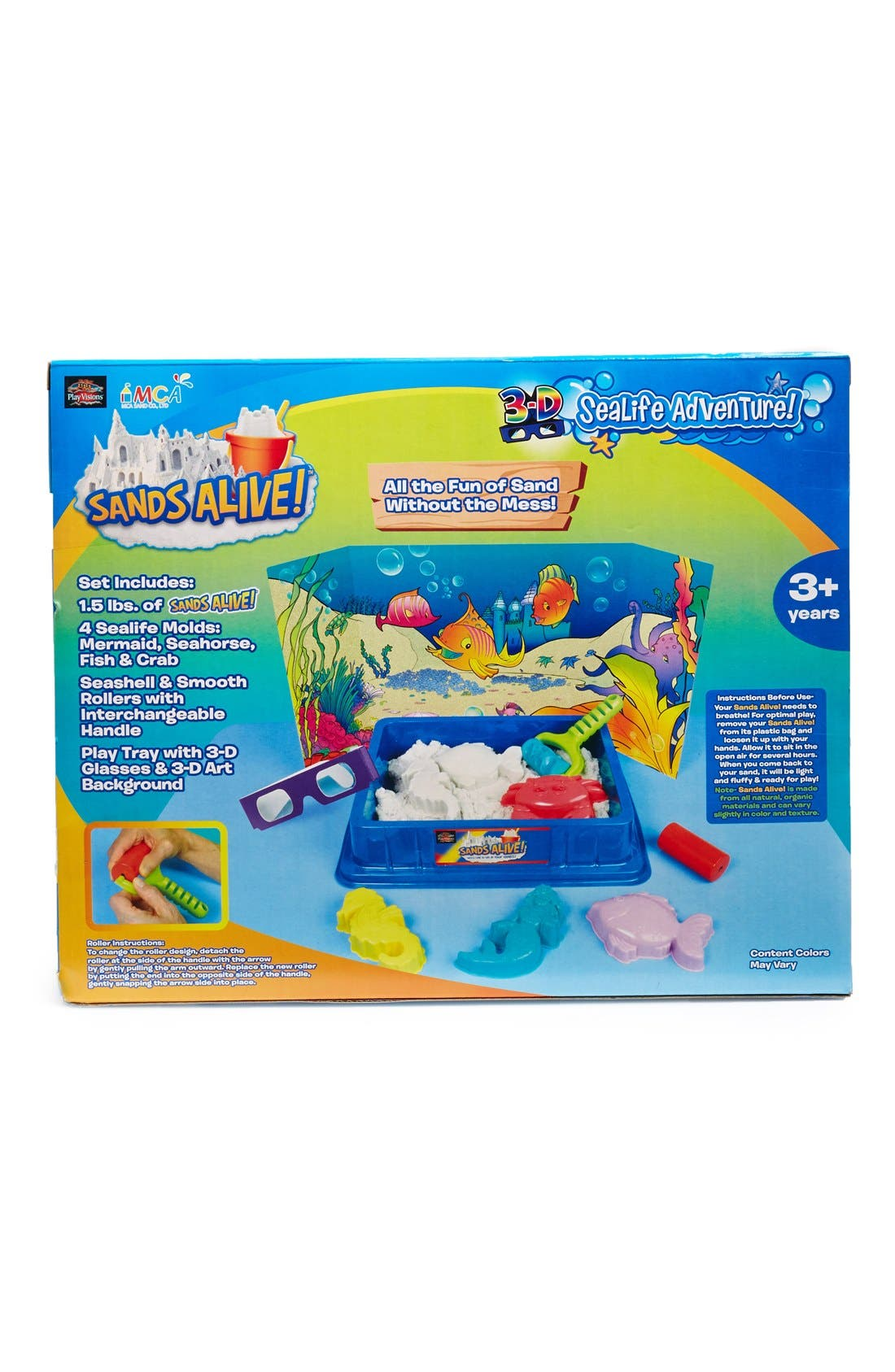 Alternate Image 2  - Play Visions Toys 'Sands Alive! 3D Sea Life Adventure' Indoor Play Sand Kit