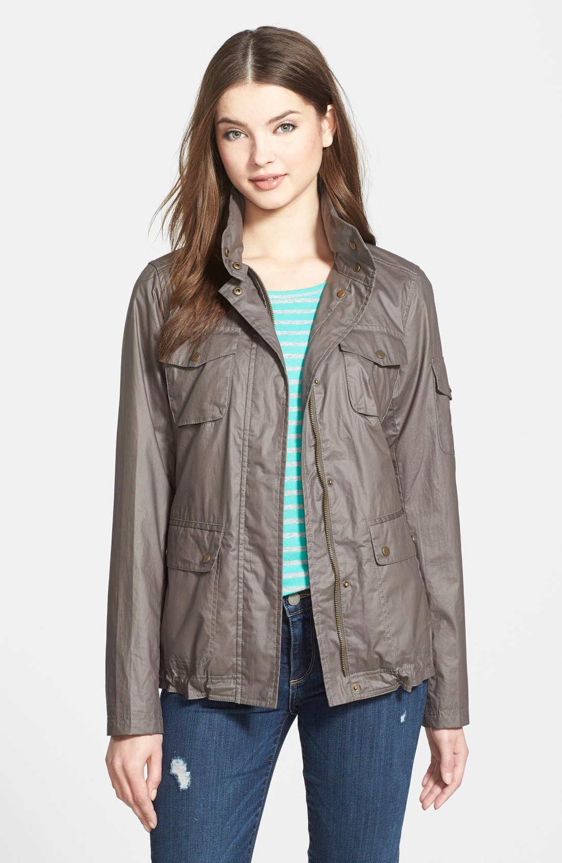 Vince Camuto Coated Cotton Four Pocket Jacket