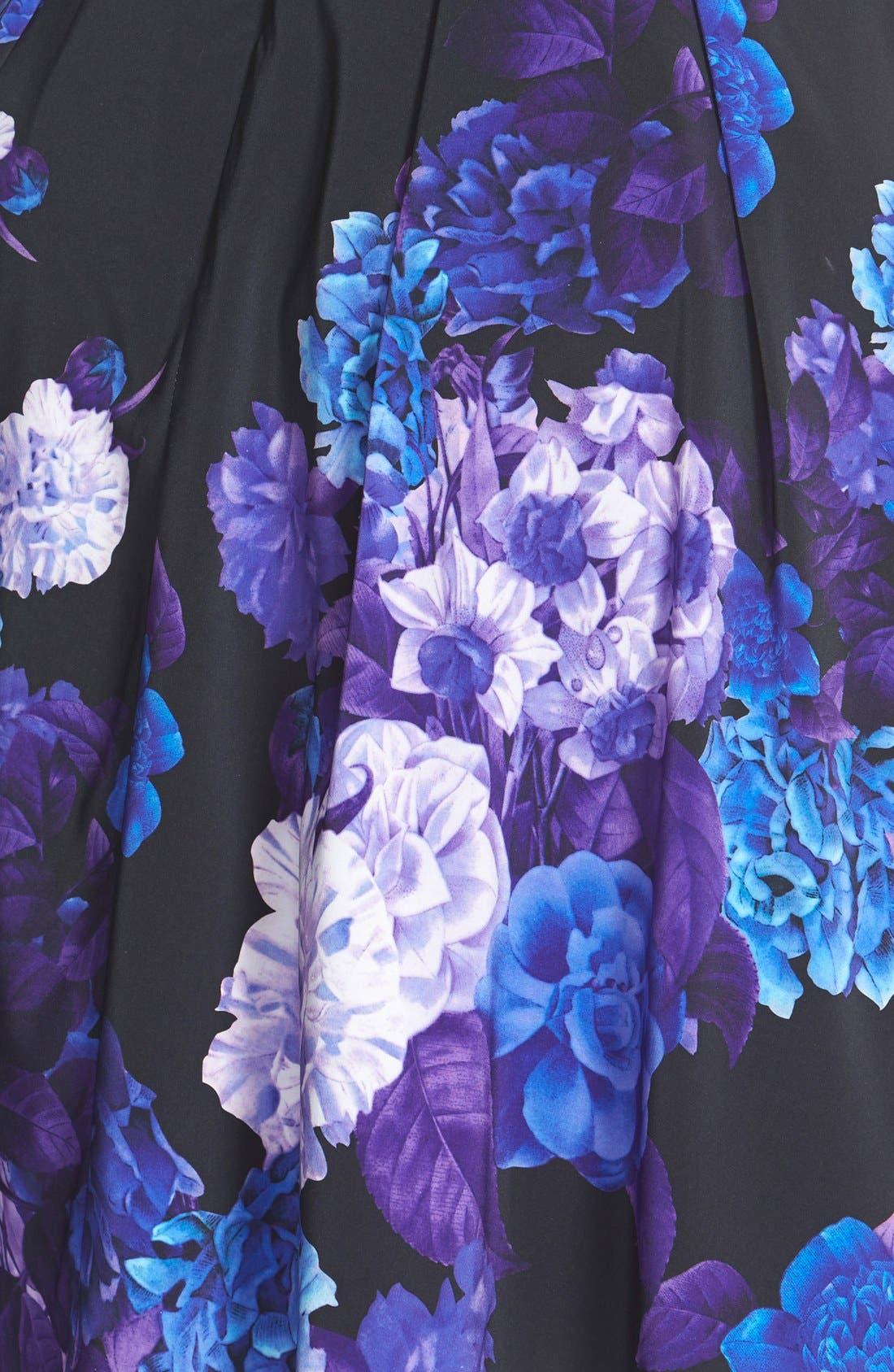 Alternate Image 3  - City Chic Hydrangea Print Dress (Plus Size)