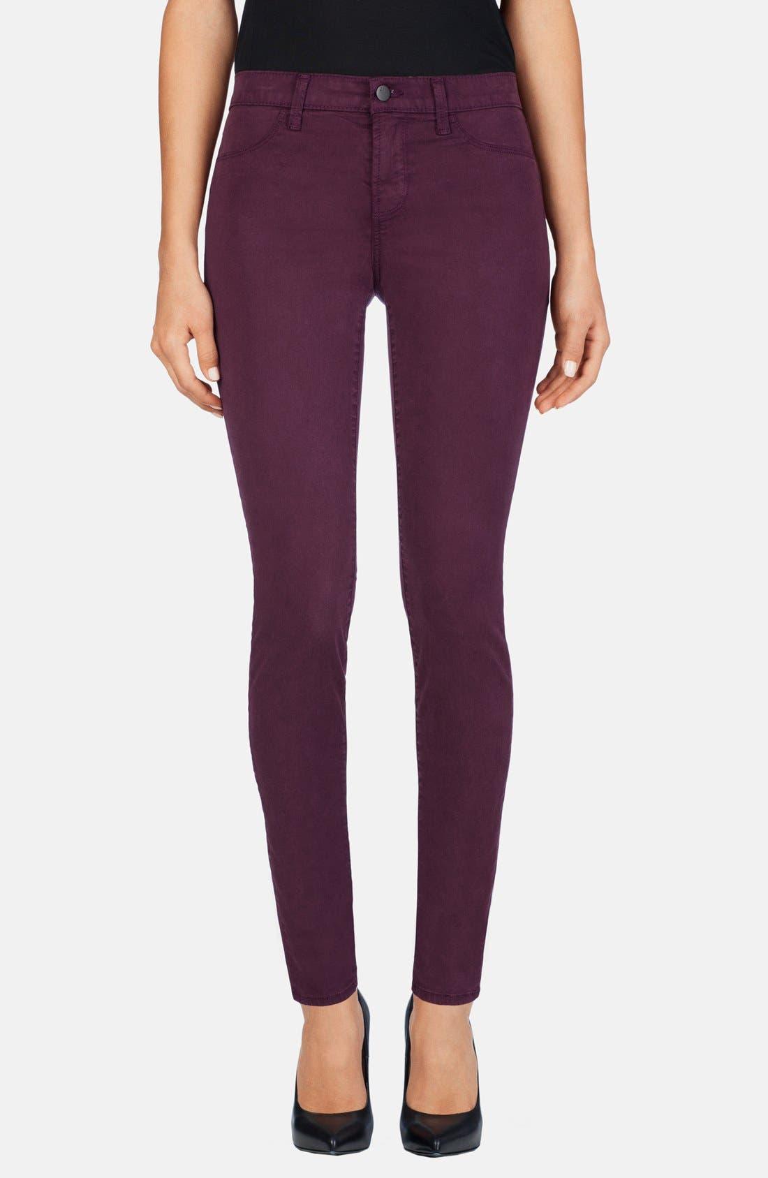 Main Image - J Brand '485' Mid Rise Super Skinny Jeans