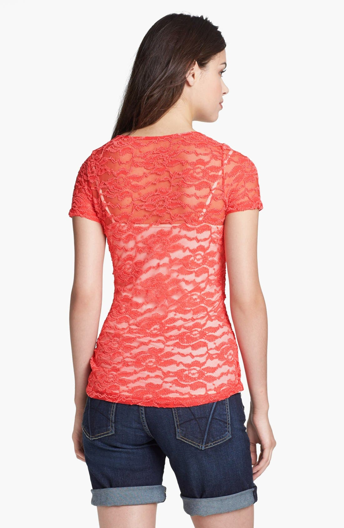Alternate Image 2  - Pleione Floral Lace Tee