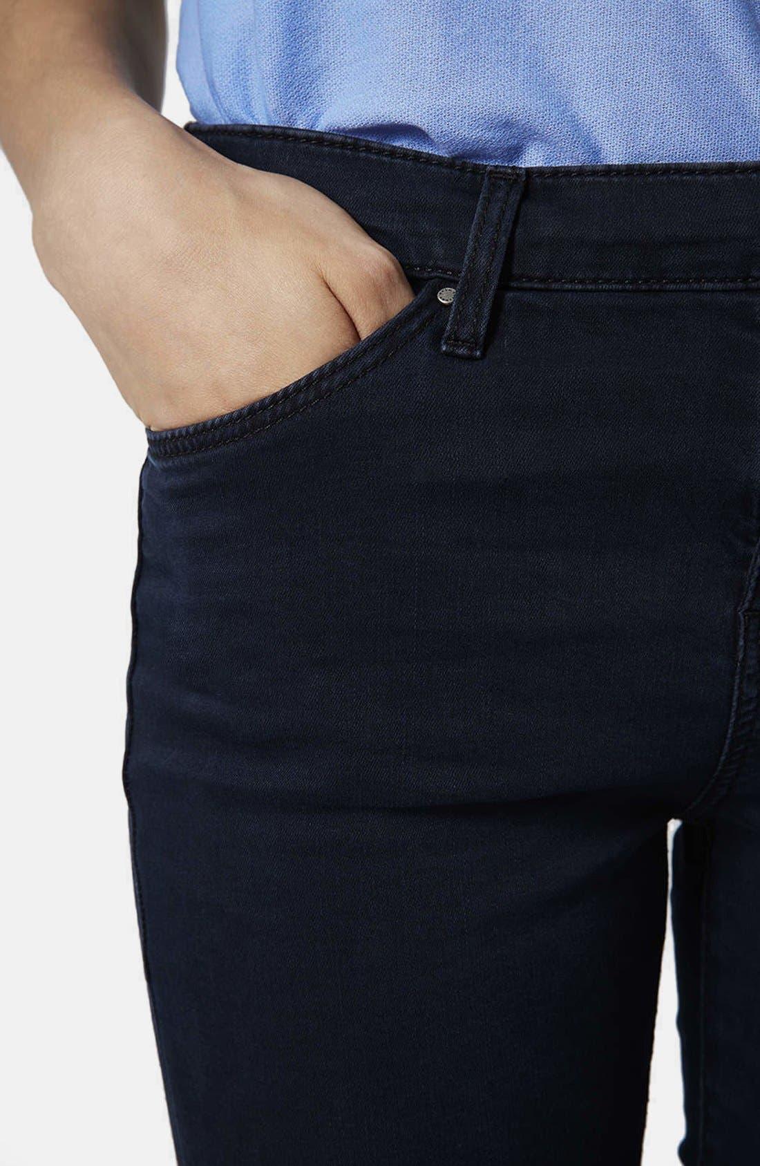Alternate Image 4  - Topshop Moto 'Leigh' Crop Skinny Jeans (Blue Black) (Regular, Short & Long)