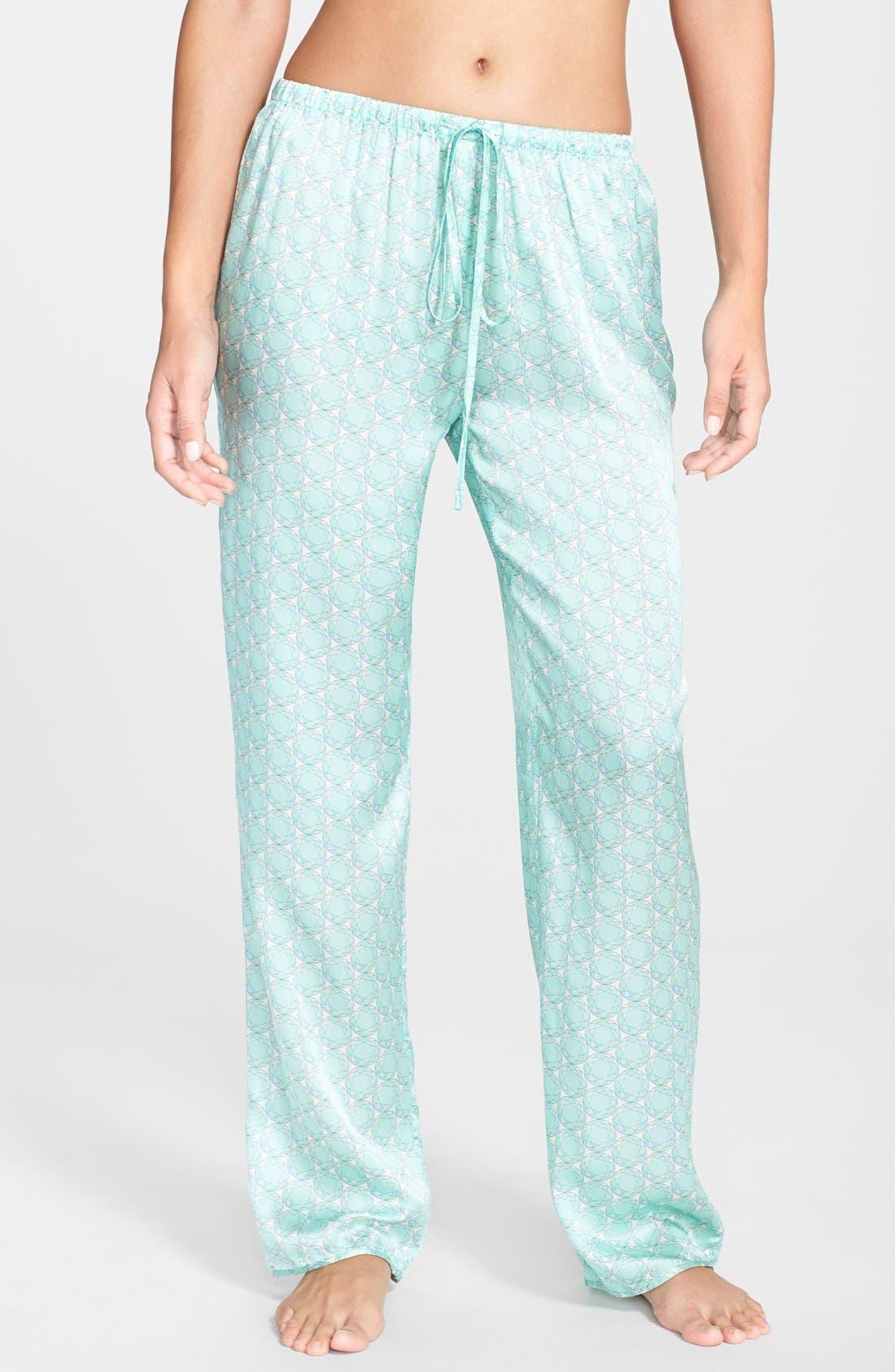 Alternate Image 1 Selected - Beautiful Bottoms London 'Panama' Satin Pajama Pants