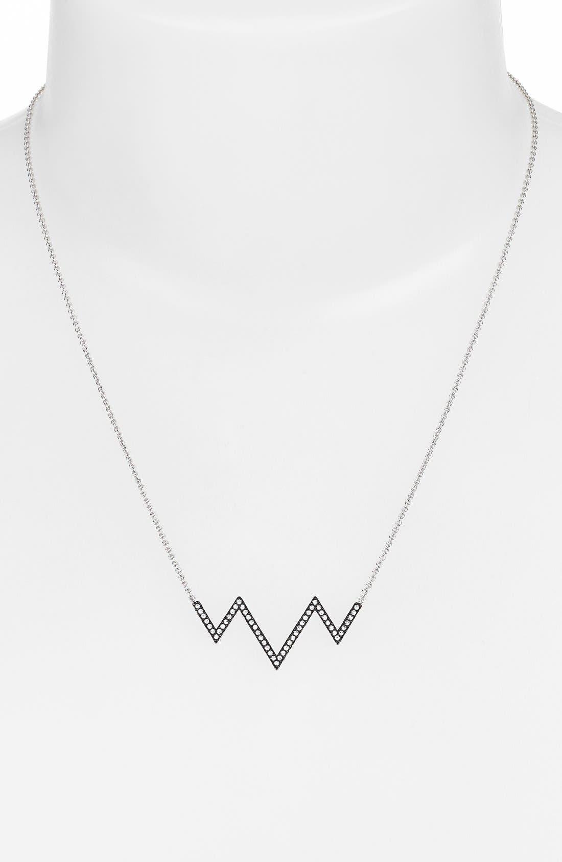 Alternate Image 2  - Nadri Chevron Pendant Necklace