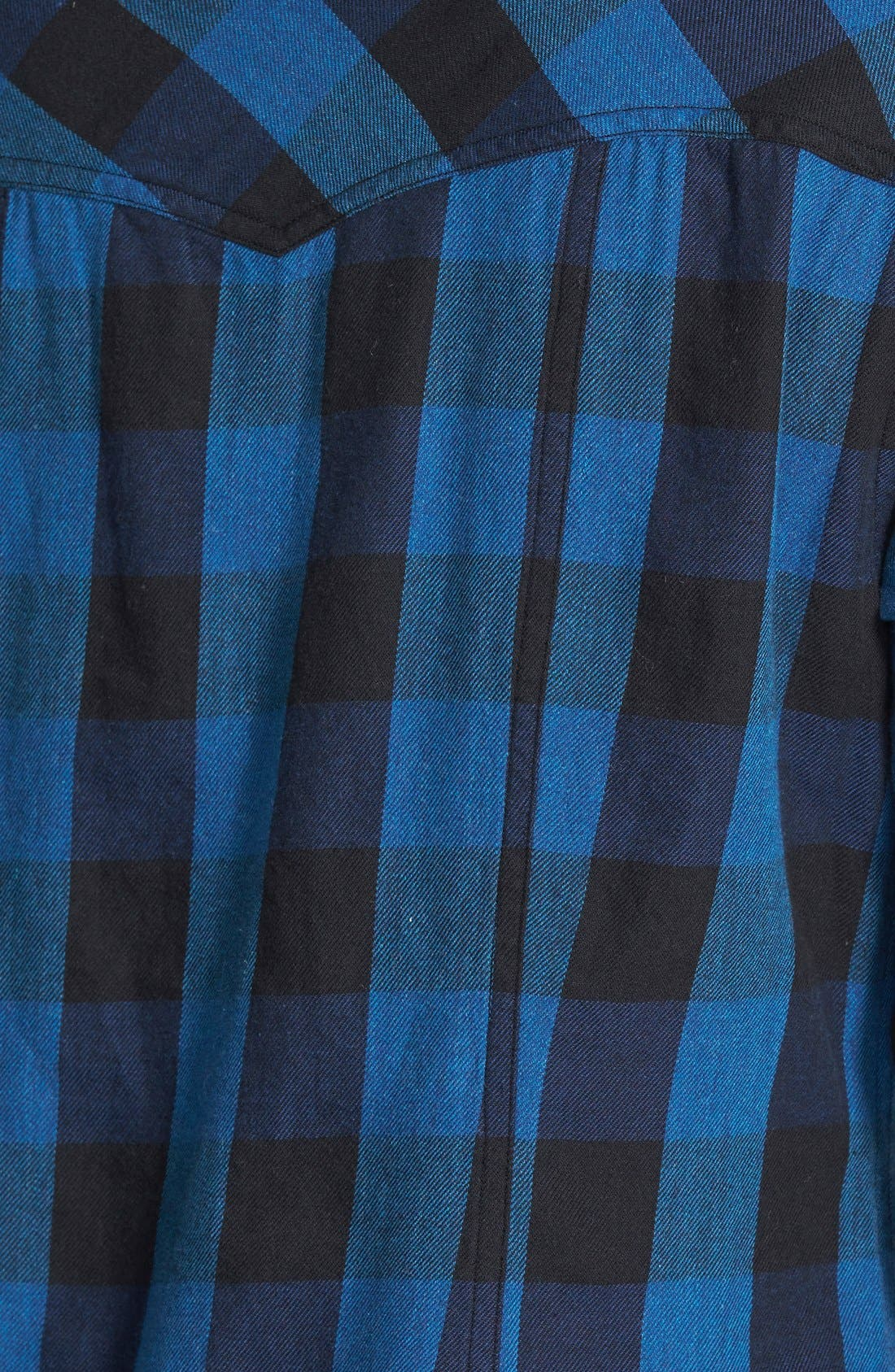 Alternate Image 2  - Sandra Ingrish Check Cotton Flannel Shirt (Online Only)