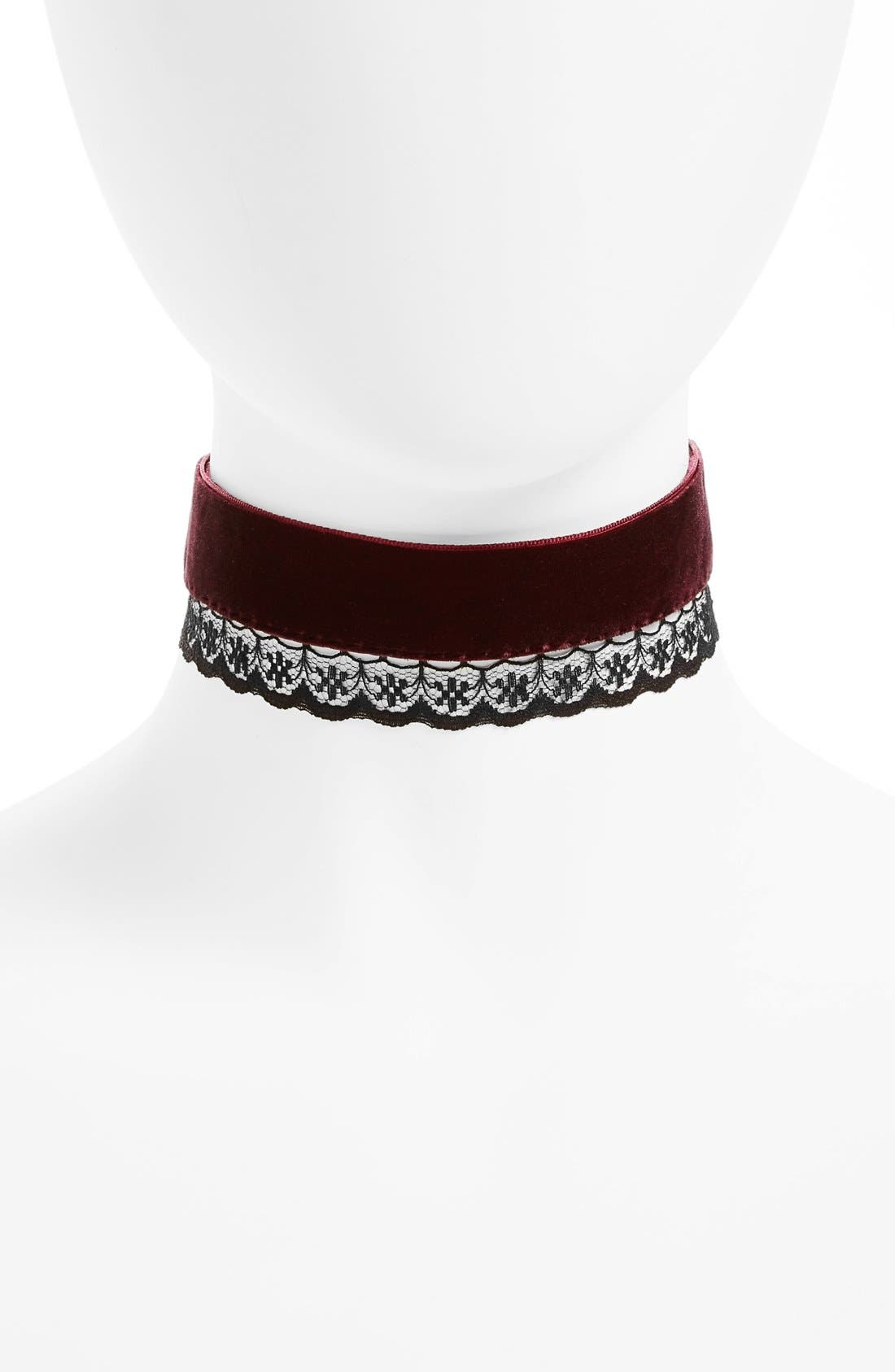 Alternate Image 1 Selected - BP. Velvet & Lace Choker