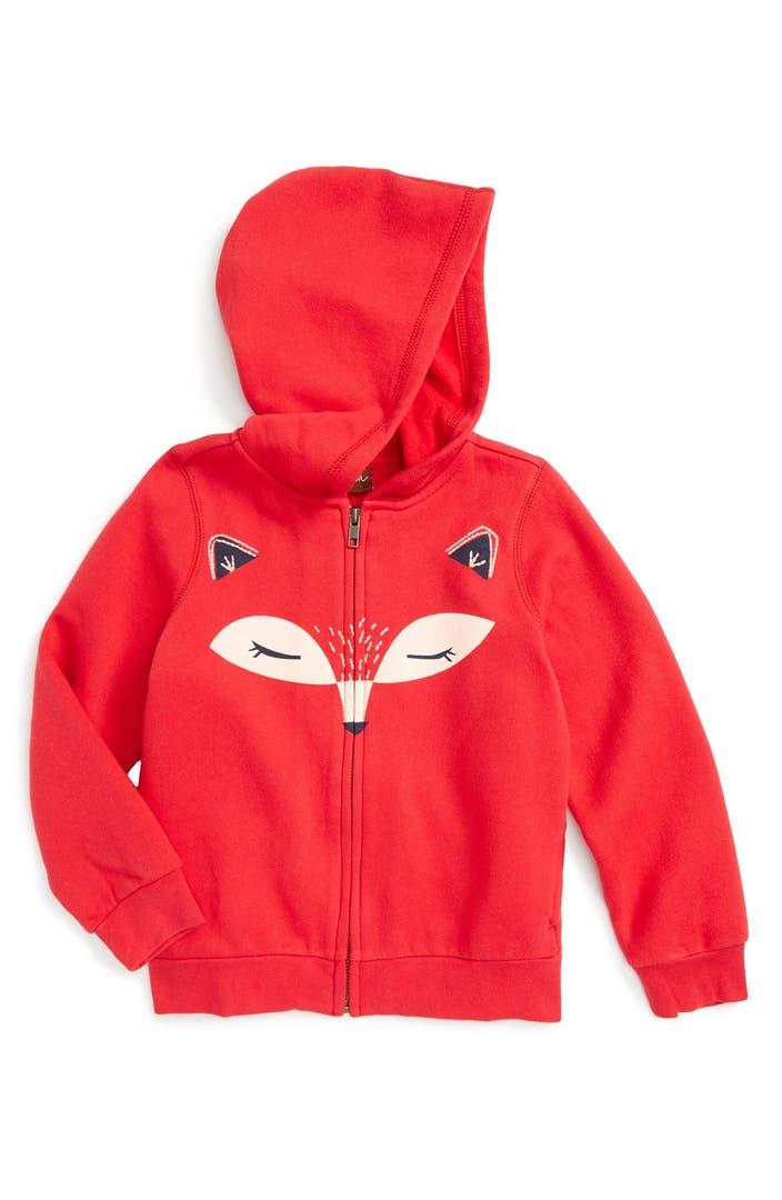 Tea collection kitsune zip hoodie toddler girls little for Housse zip collection captur