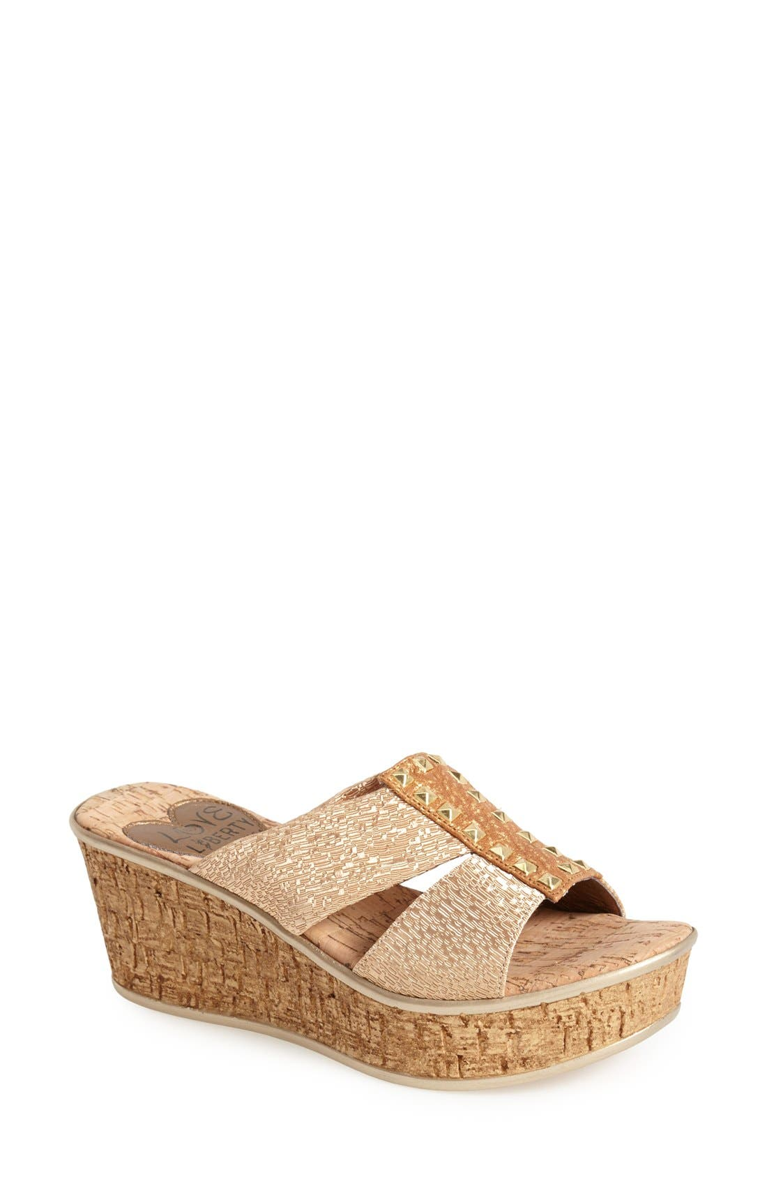 LOVE AND LIBERTY 'Nadia' Elastic Strap Slide