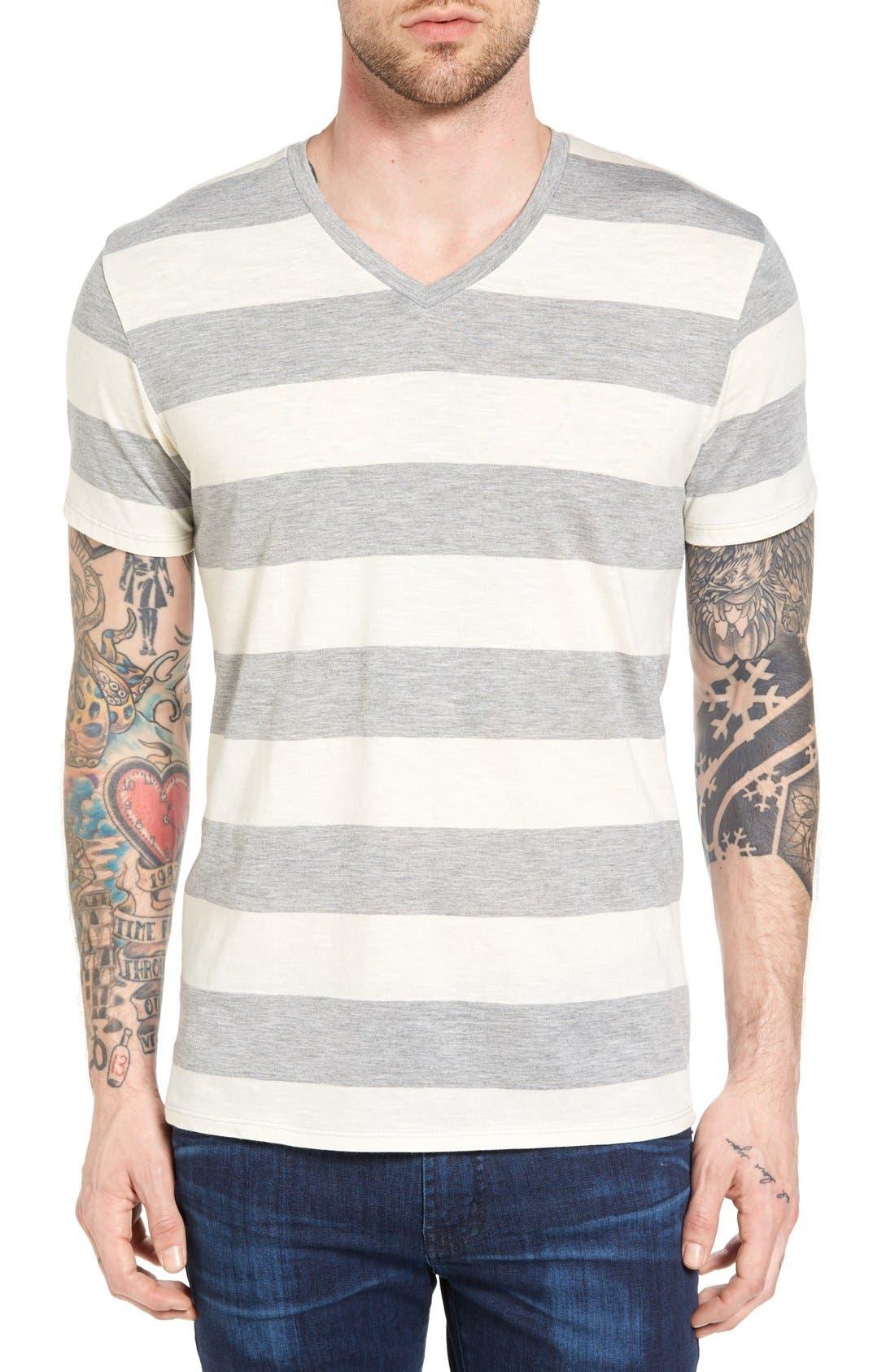 THE RAIL Stripe V-Neck T-Shirt