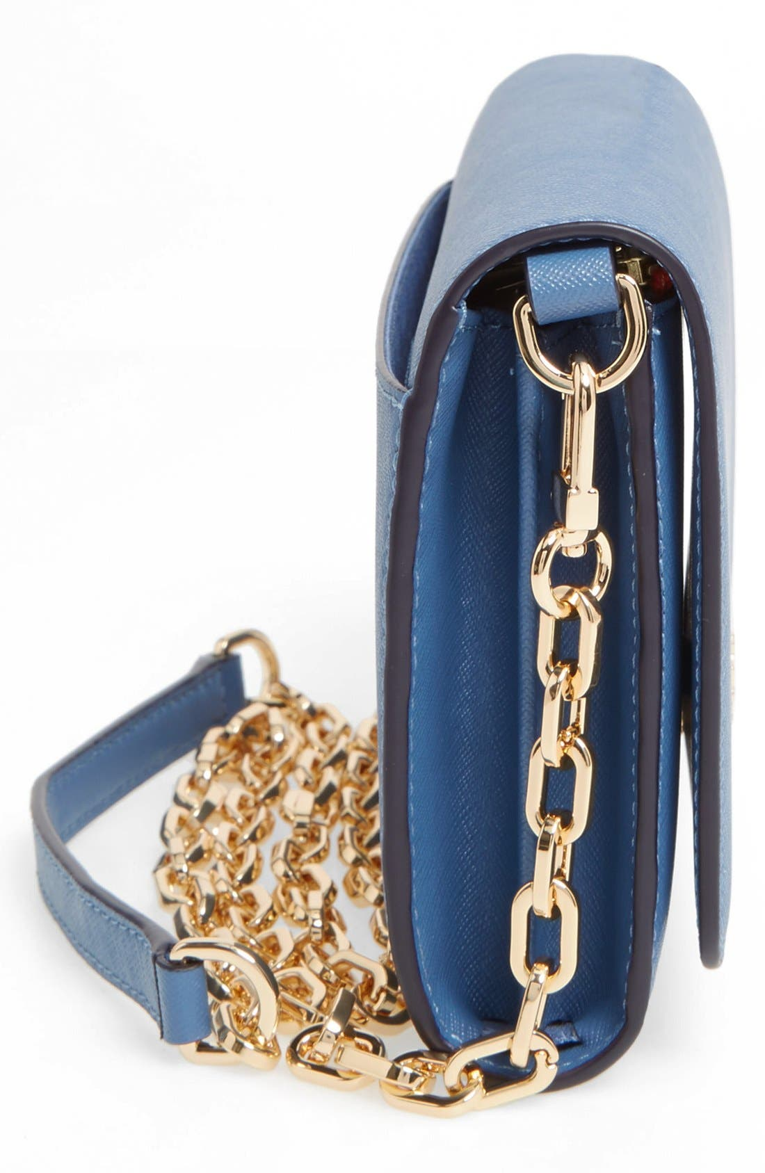 Alternate Image 5  - Tory Burch 'Robinson' Leather Wallet on a Chain