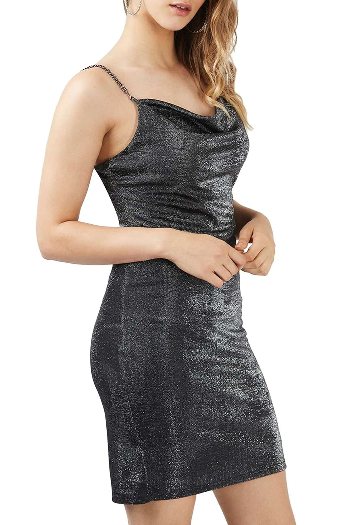 Alternate Image 1 Selected - Topshop Sparkle Body-Con Dress