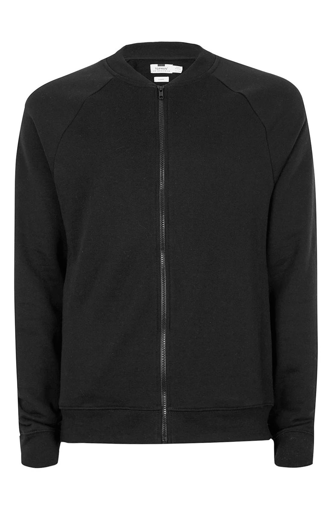 Alternate Image 5  - Topman Classic Fit Bomber Jacket