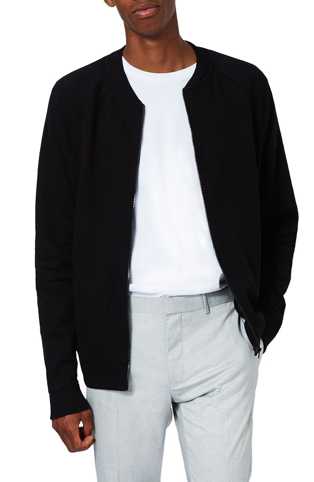 Main Image - Topman Classic Fit Bomber Jacket