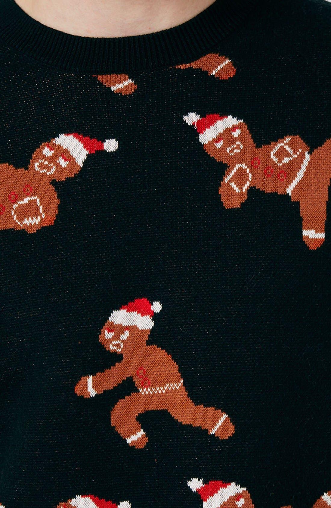 Alternate Image 4  - Topman Ninja Gingerbread Men Sweater