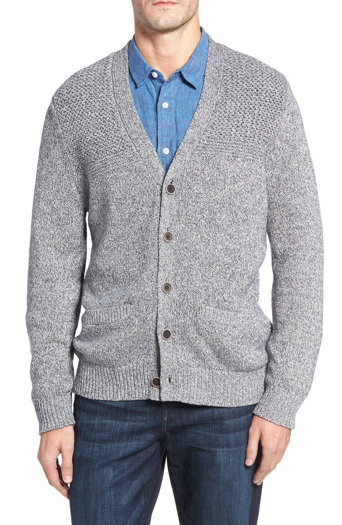 Tommy Bahama Cool Azul Fisherman Cardigan (Big & Tall)