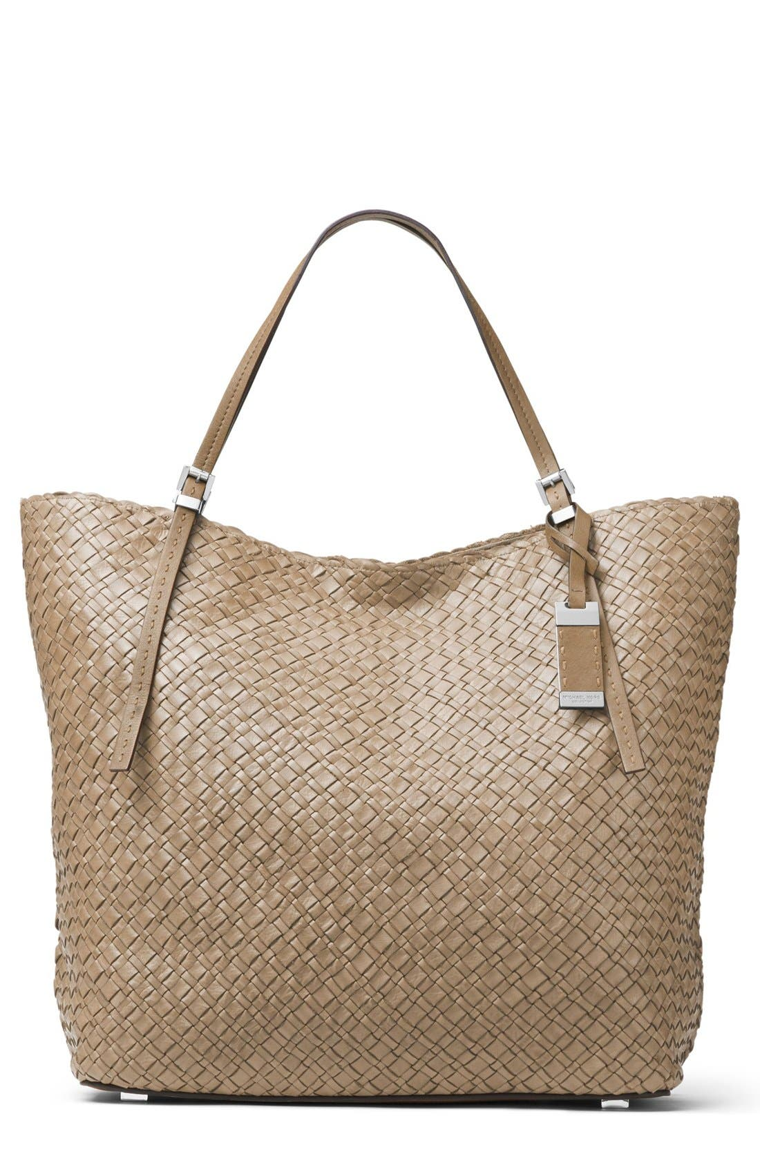 Alternate Image 1 Selected - Michael Kors Large Hutton Woven Leather Tote