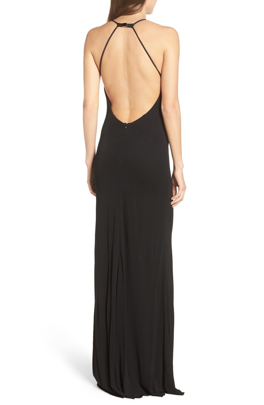 Alternate Image 2  - Maria Bianca Nero Victoria Sleeveless Gown