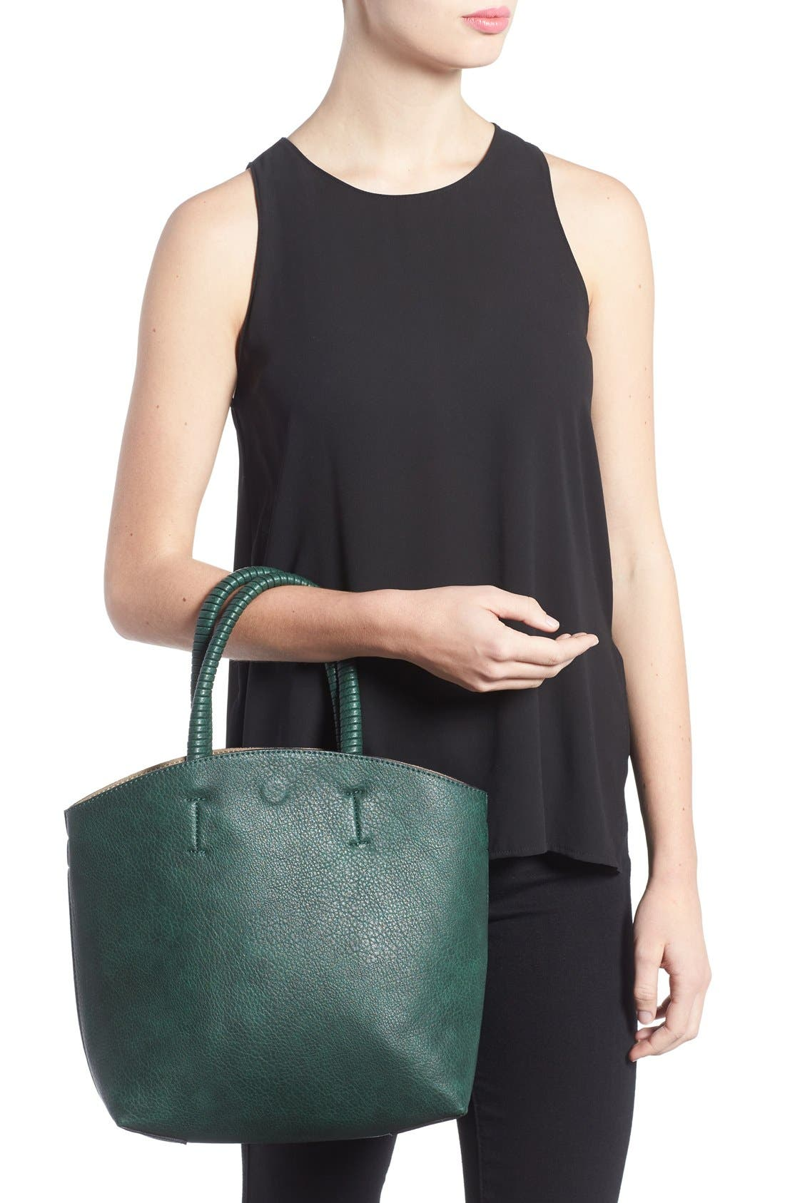 Alternate Image 2  - Street Level Faux Leather Dome Tote