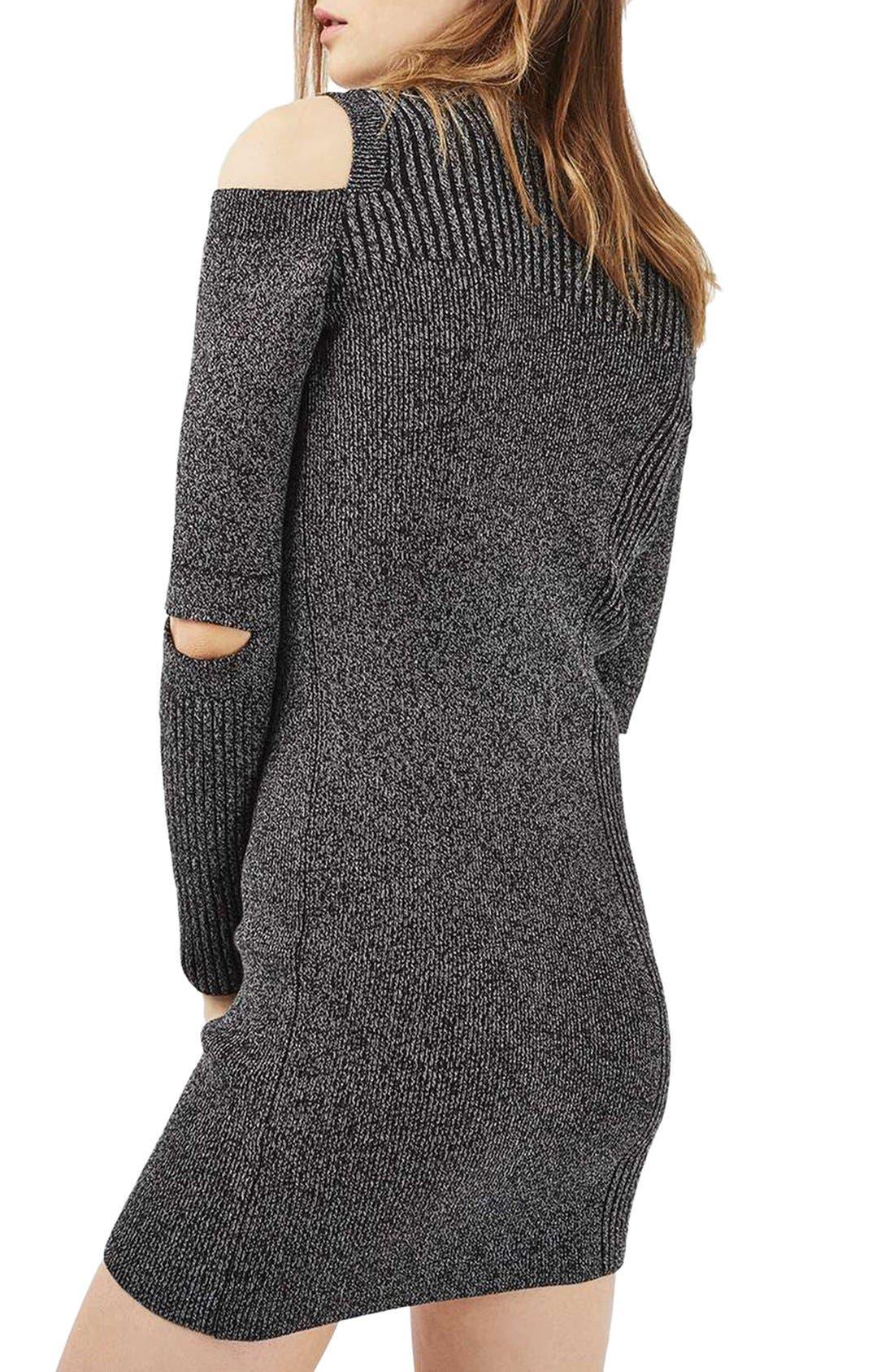 Alternate Image 3  - Topshop Slash Ribbed Sweater Dress