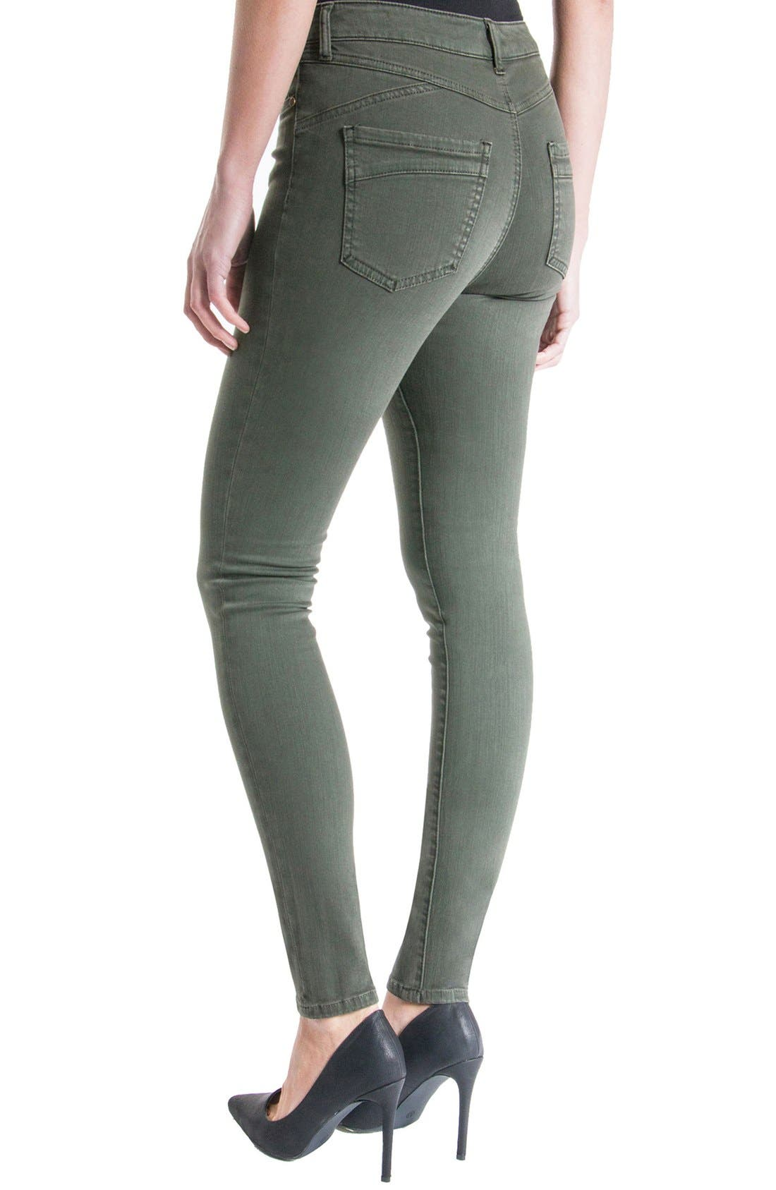 Alternate Image 3  - Liverpool Jeans Company 'The Hugger Aiden' Stretch Skinny Jeans (Cypress Dark Olive)