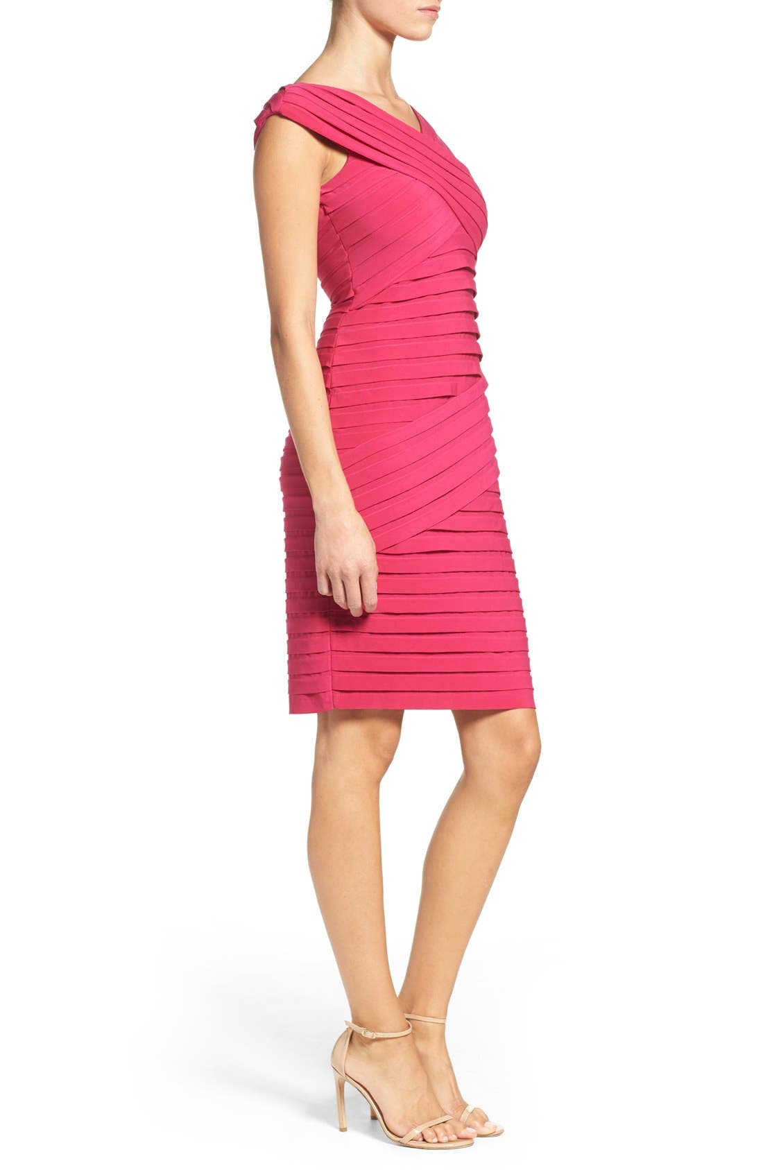 Alternate Image 3  - Adrianna Papell Shutter Pleat Sheath Dress