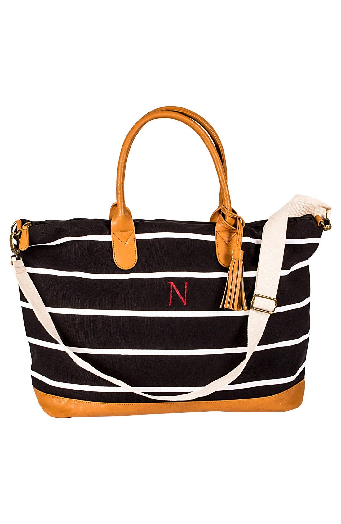 Cathy's Concepts Monogram Oversized Weekender Tote