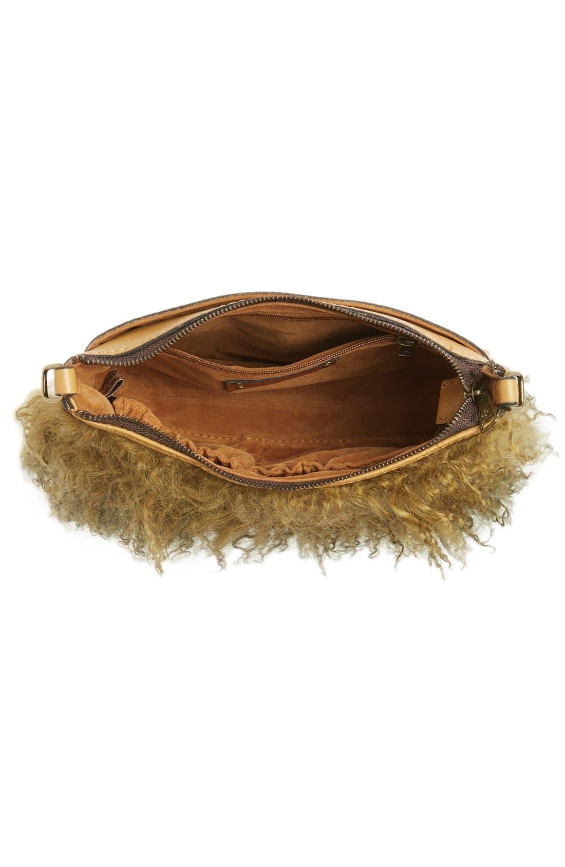 Alternate Image 4  - Patricia Nash Small Paulo Genuine Shearling Crossbody Bag