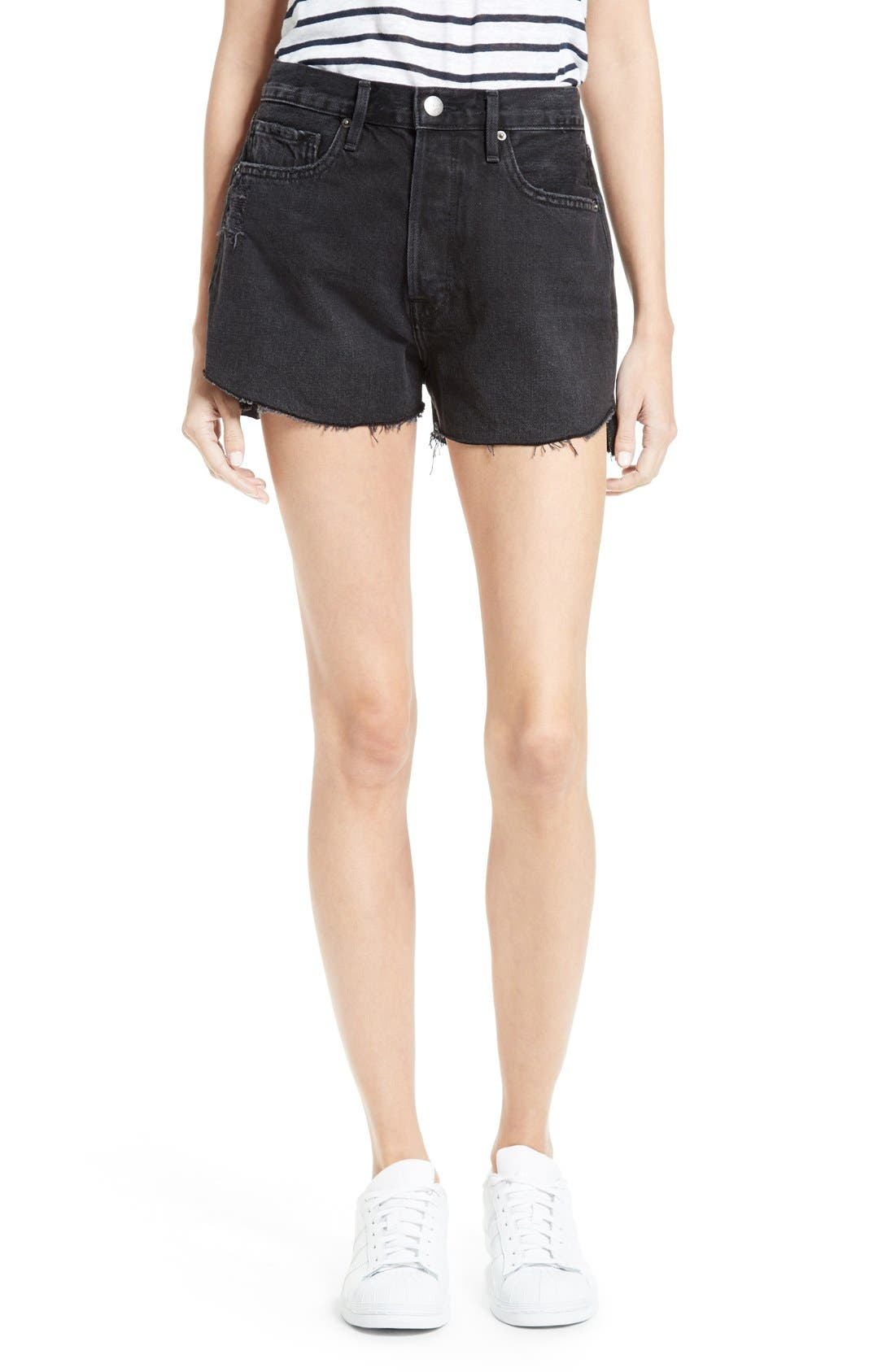 FRAME Le Original Tulip High Waist Shorts (Nightingale)