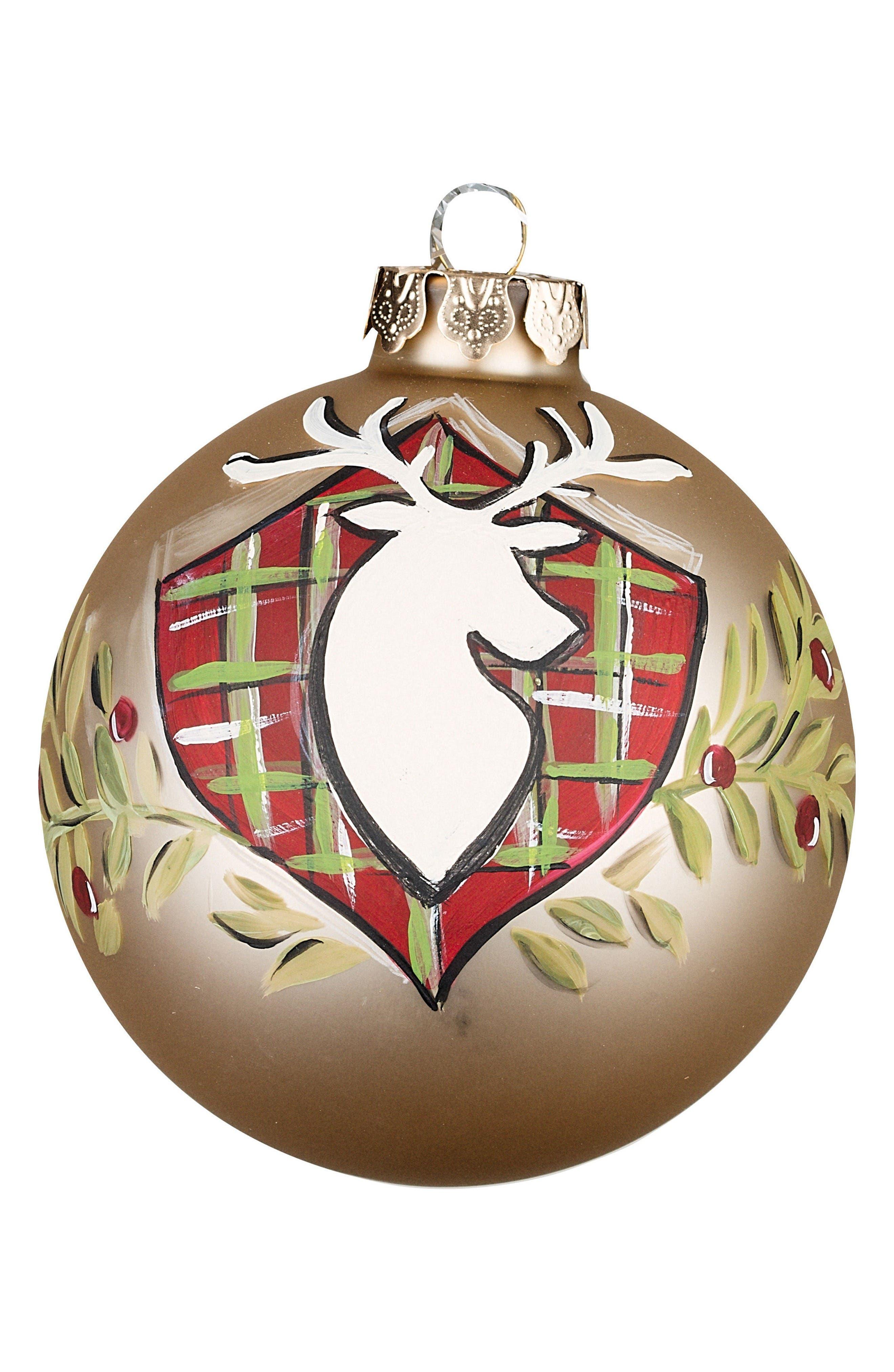Alternate Image 1 Selected - Glory Haus Deer Silhouette Ball Ornament