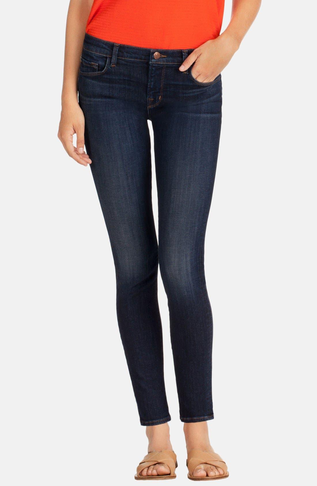 Main Image - J Brand Mid-Rise Skinny Jeans (Oblivion)
