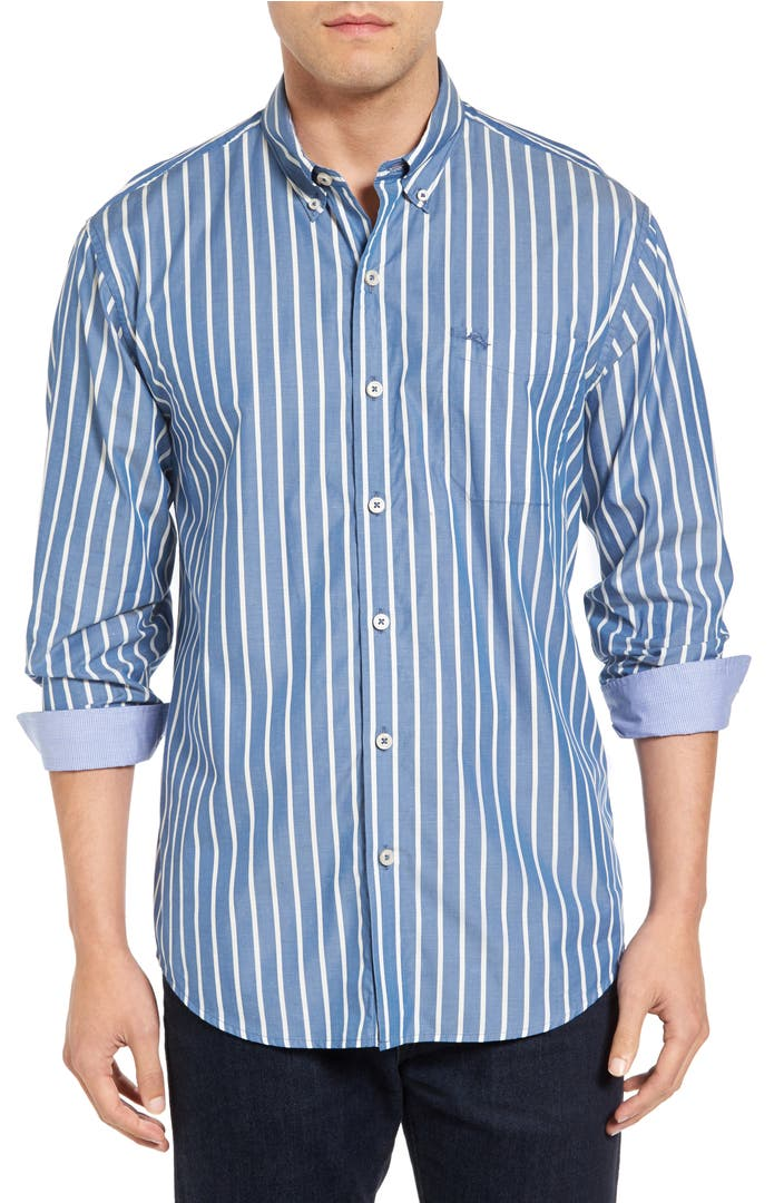 Tommy bahama cabana stripe sport shirt big tall for Big n tall shirts