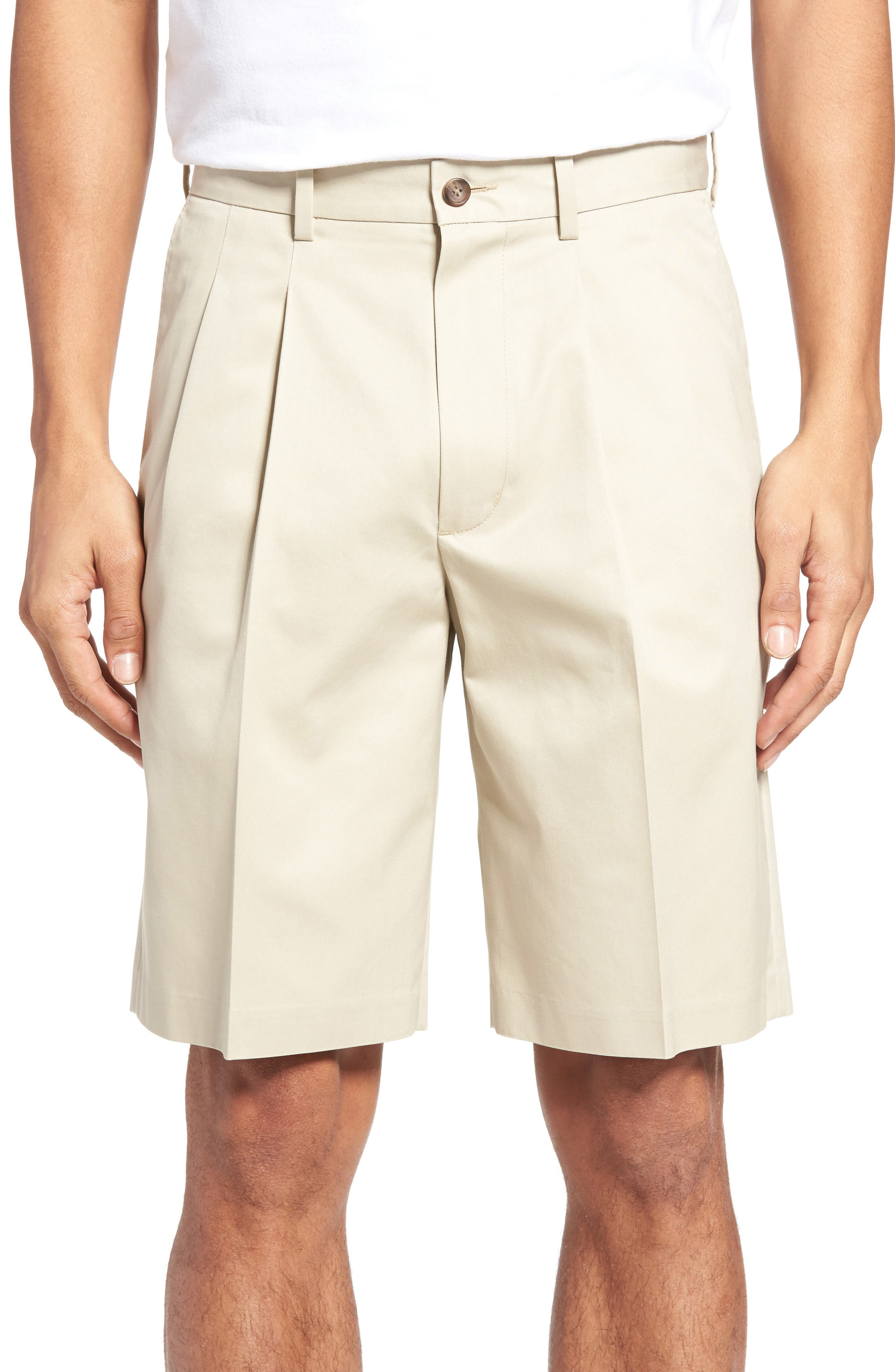 NORDSTROM MEN'S SHOP Pleated Supima® Cotton Shorts