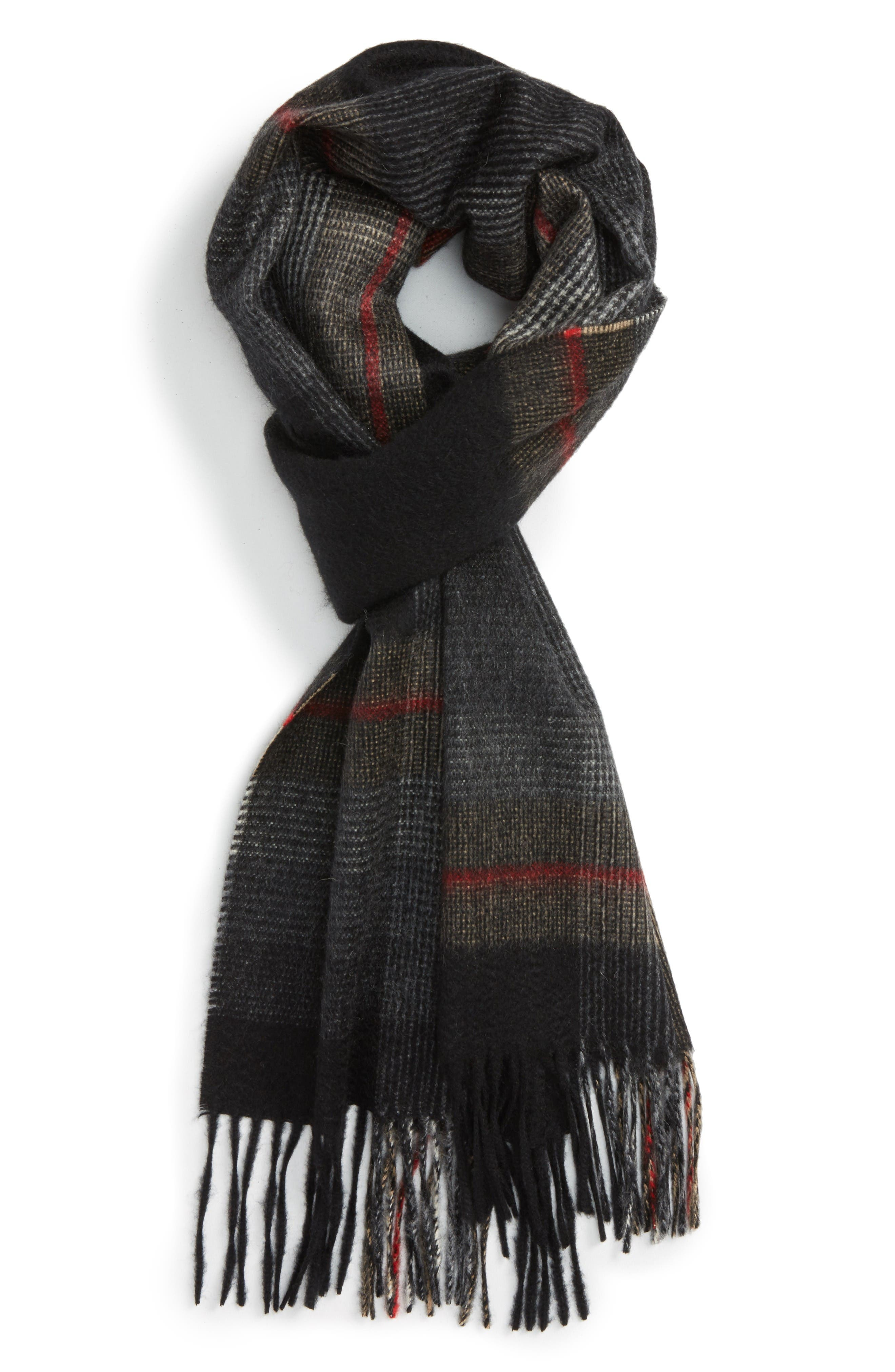 Alternate Image 1 Selected - Andrew Stewart Plaid Cashmere Scarf