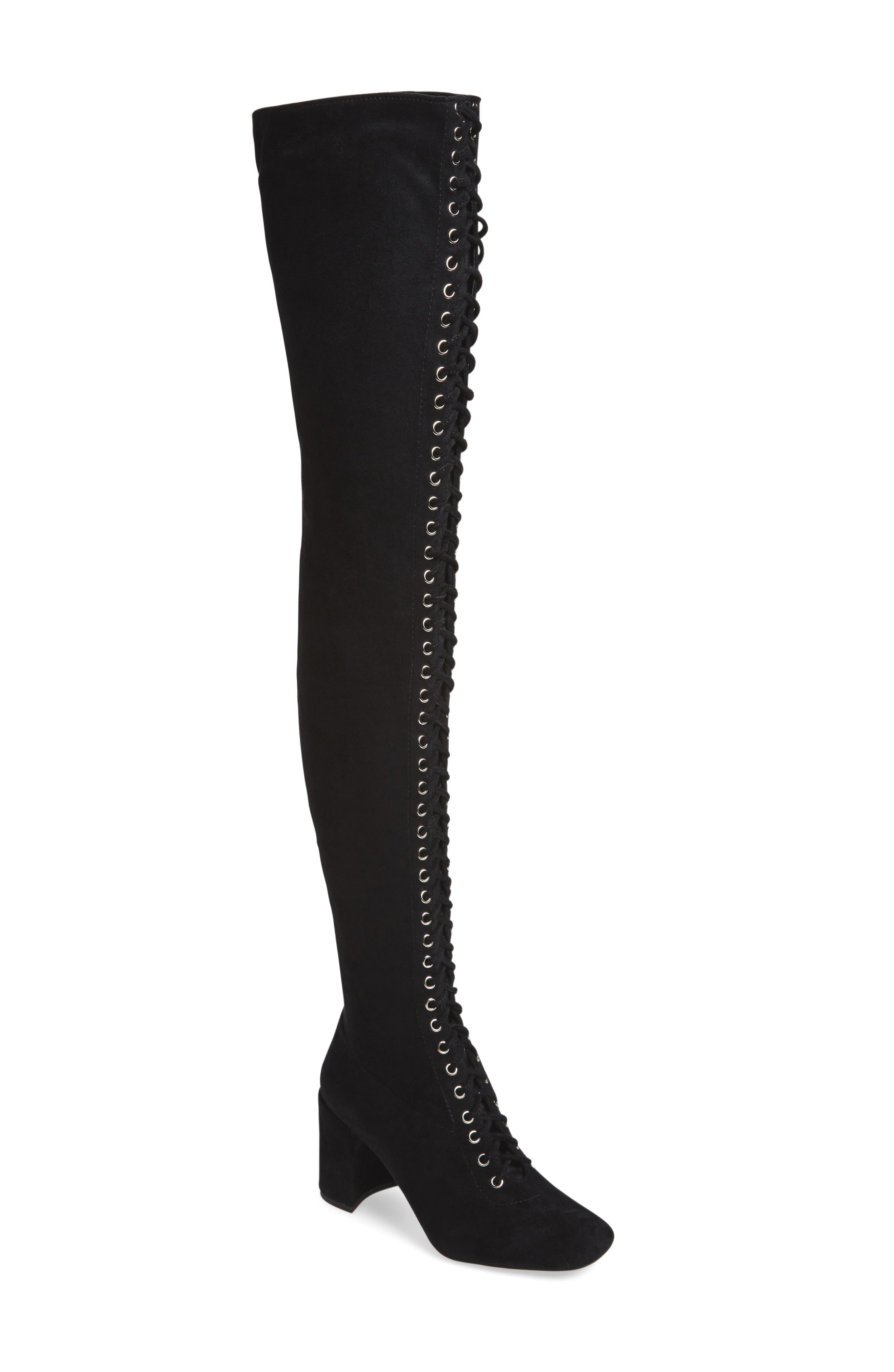 Alternate Image 1 Selected - Jeffrey Campbell Wilshire-2 Thigh High Lace-Up Boot (Women)