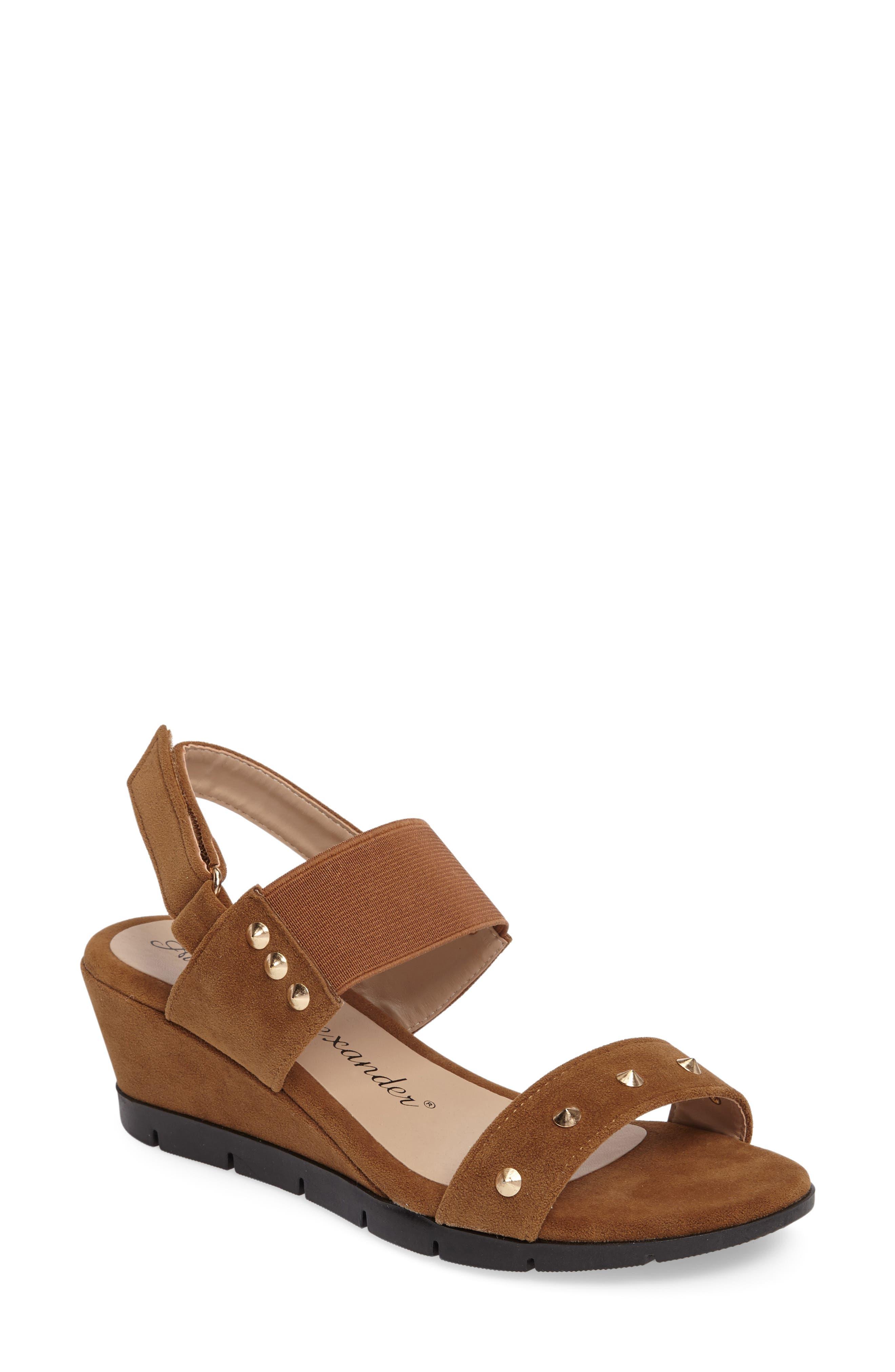 ATHENA ALEXANDER Pennye Studded Wedge Sandal