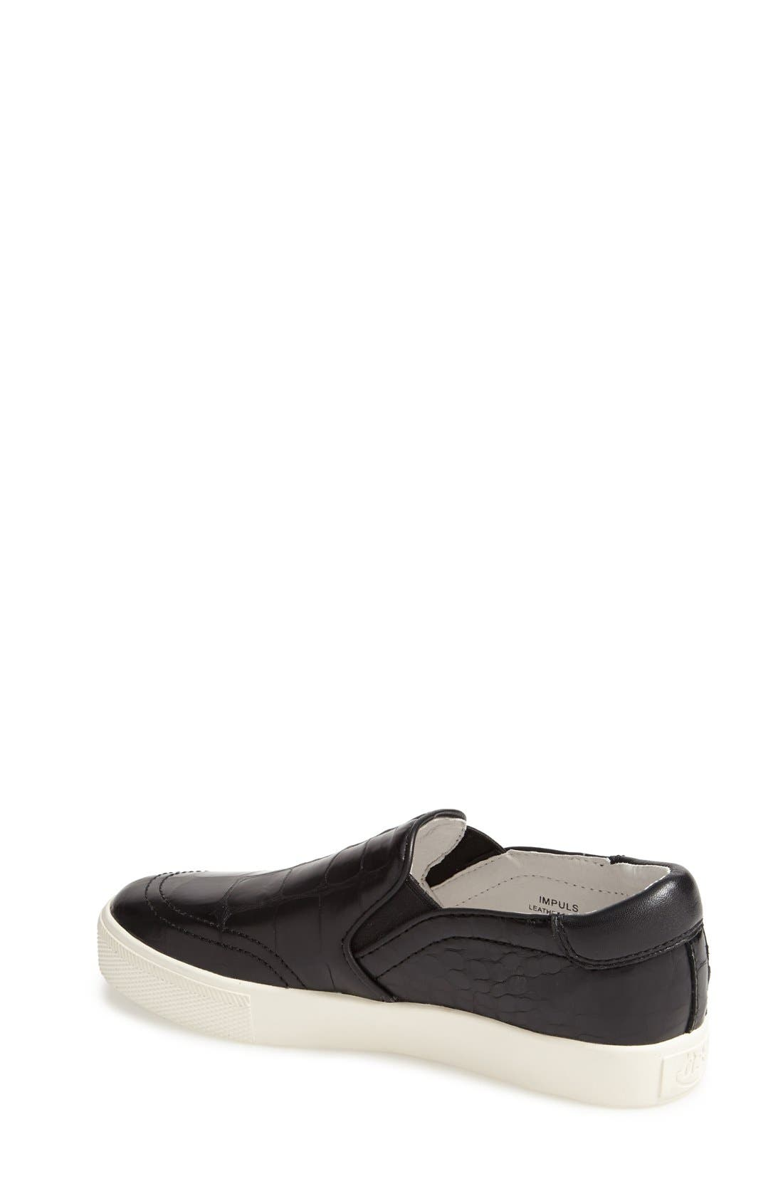Alternate Image 2  - Ash 'Impuls' Croc Embossed Leather Slip-On (Women)
