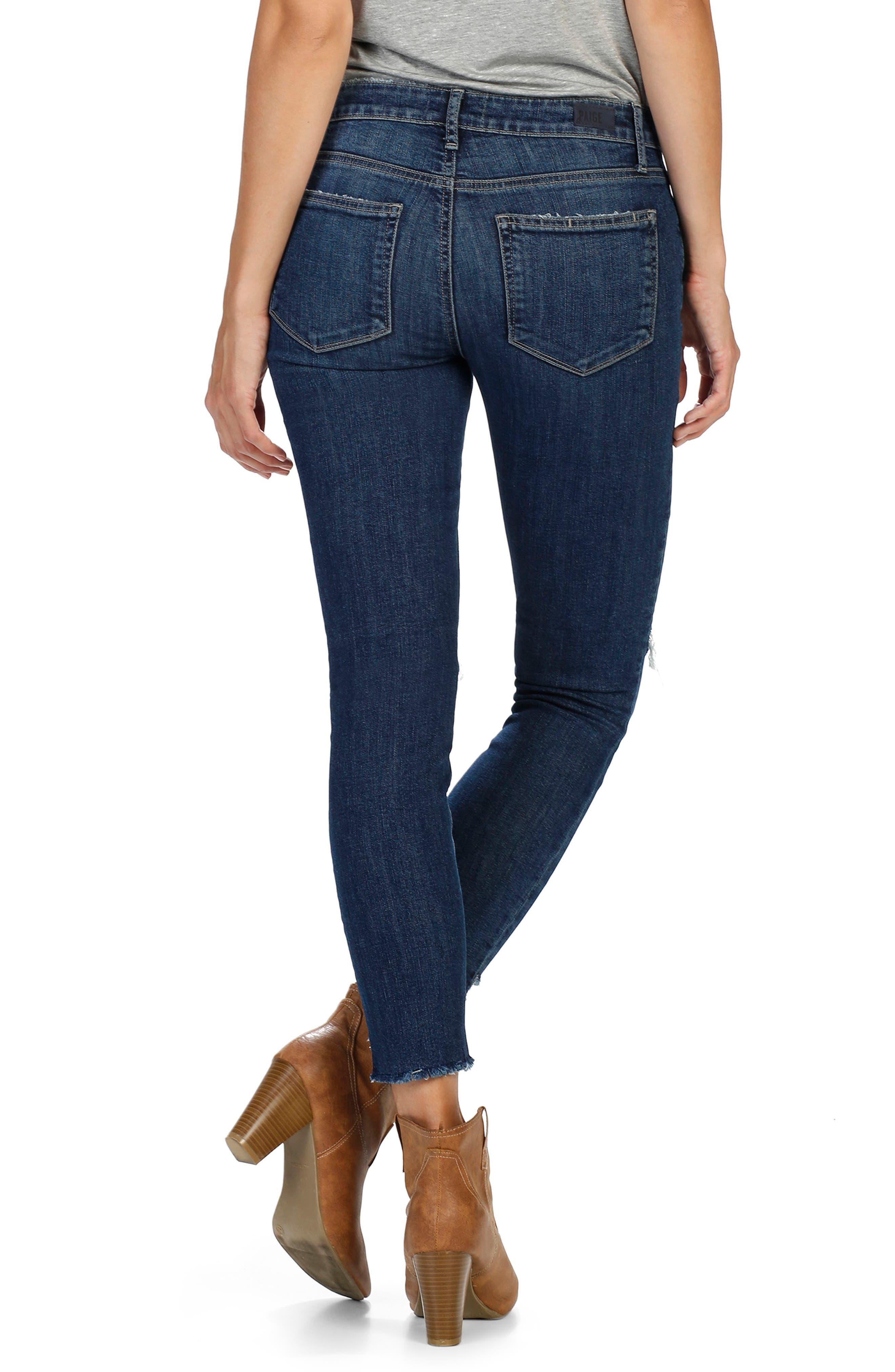 Alternate Image 2  - PAIGE Verdugo Step Hem Ankle Skinny Jeans (Dede Destructed)  (Nordstrom Exclusive)