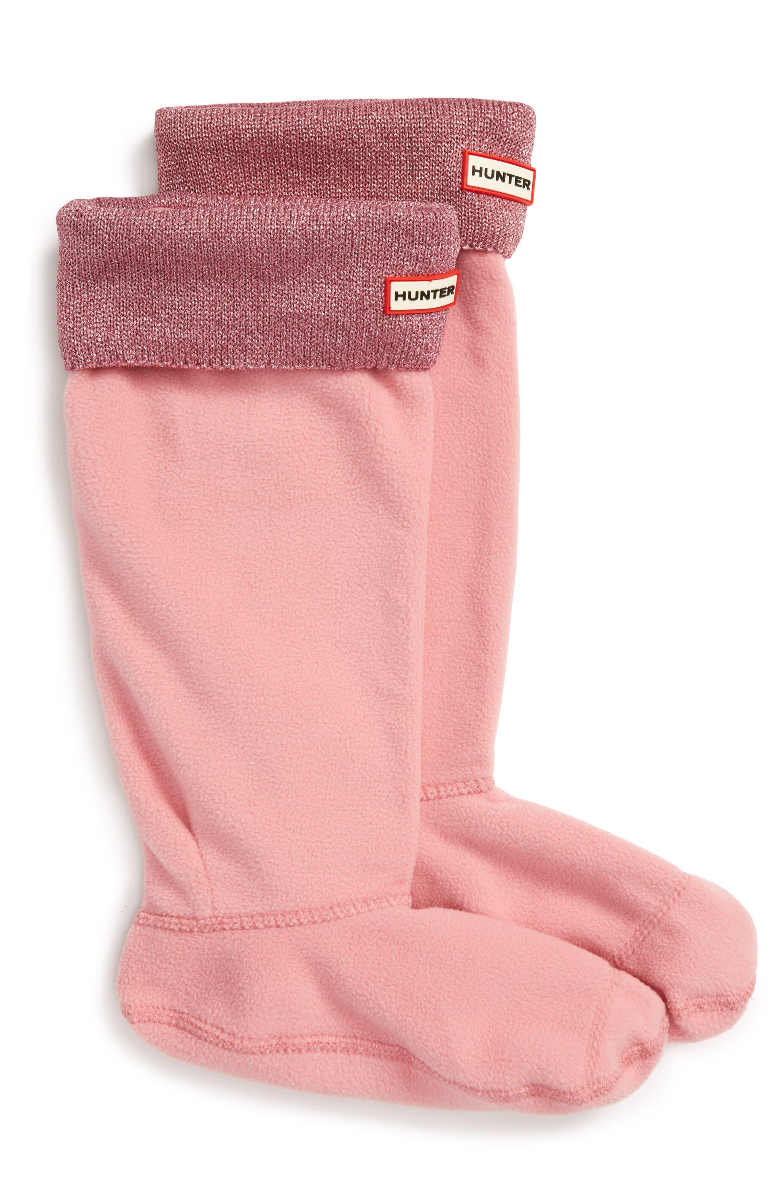 HUNTER Original Tall Glitter Cuff Welly Boot Socks