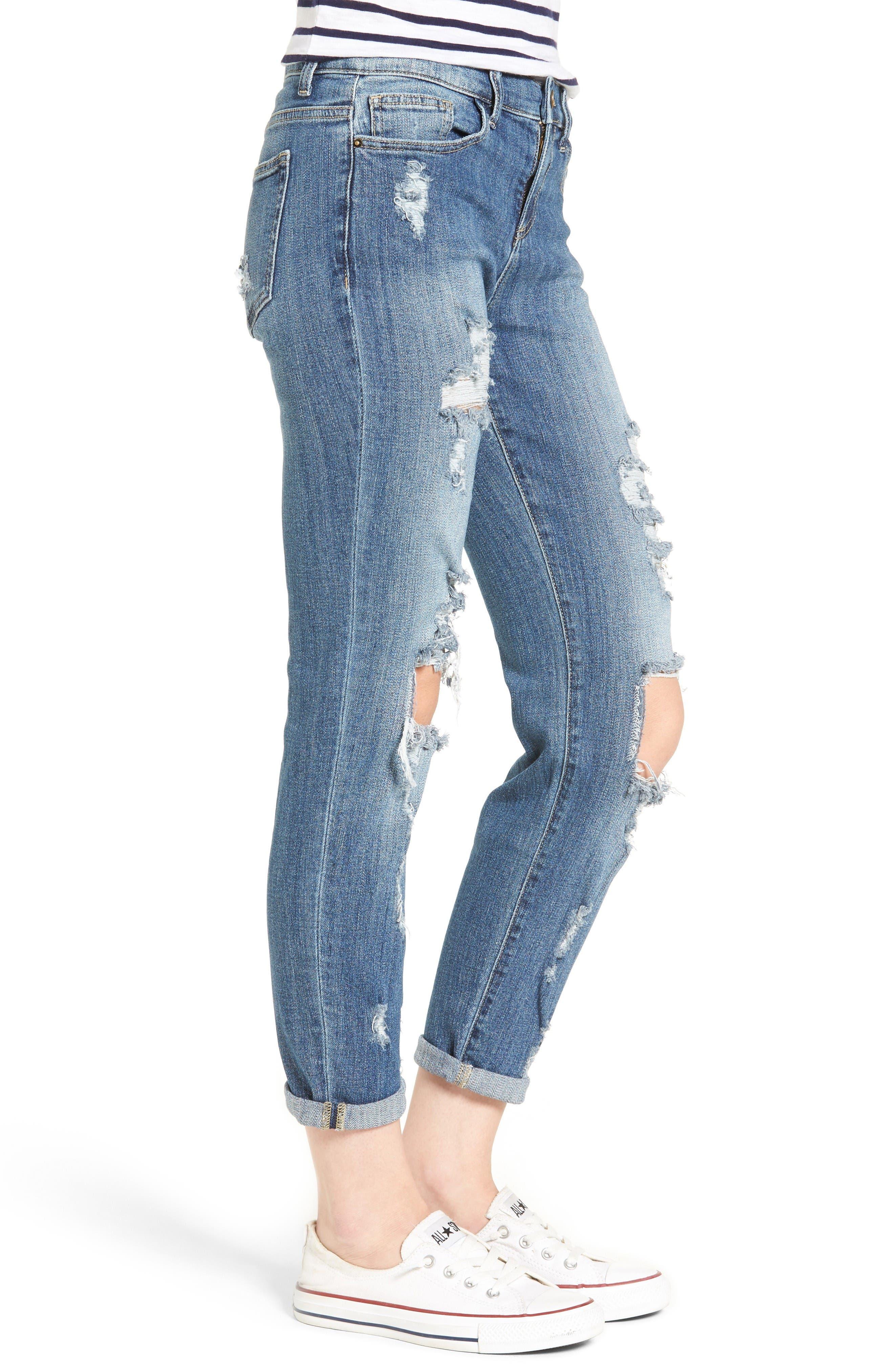 Alternate Image 3  - SP Black Decon Destroyed Boyfriend Jeans