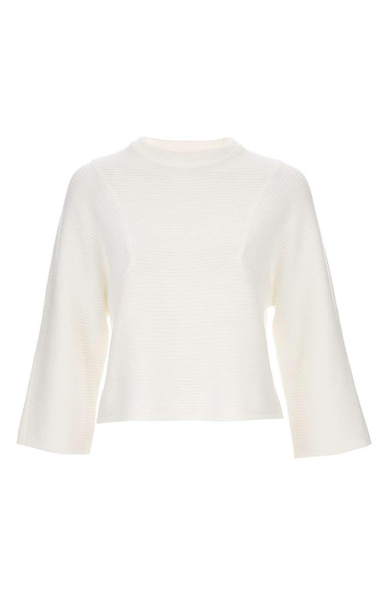 Alternate Image 4  - Topshop Diamond Kimono Sleeve Sweater
