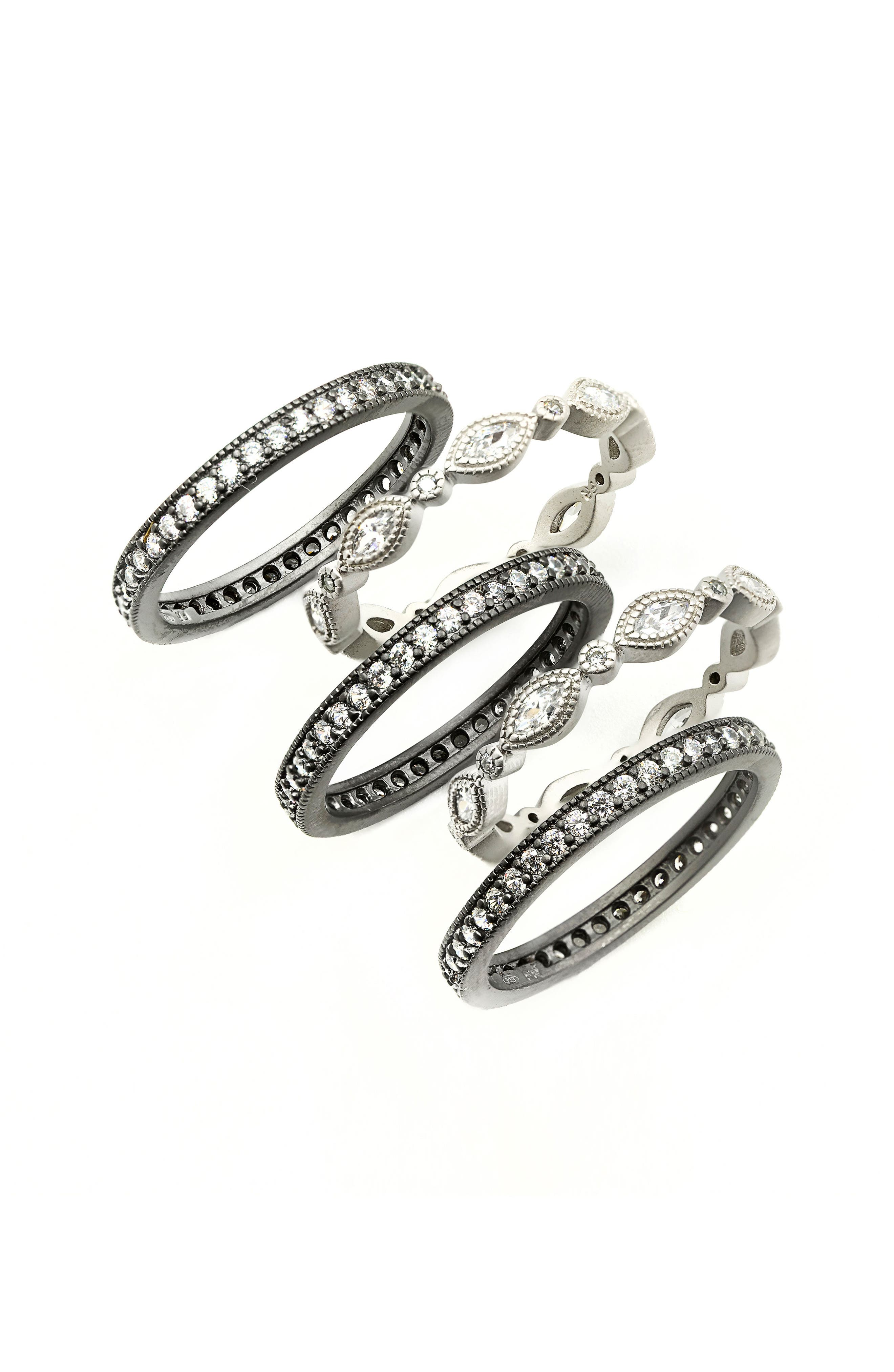 FREIDA ROTHMAN Stackable Eternity Band Rings (Set of 5)