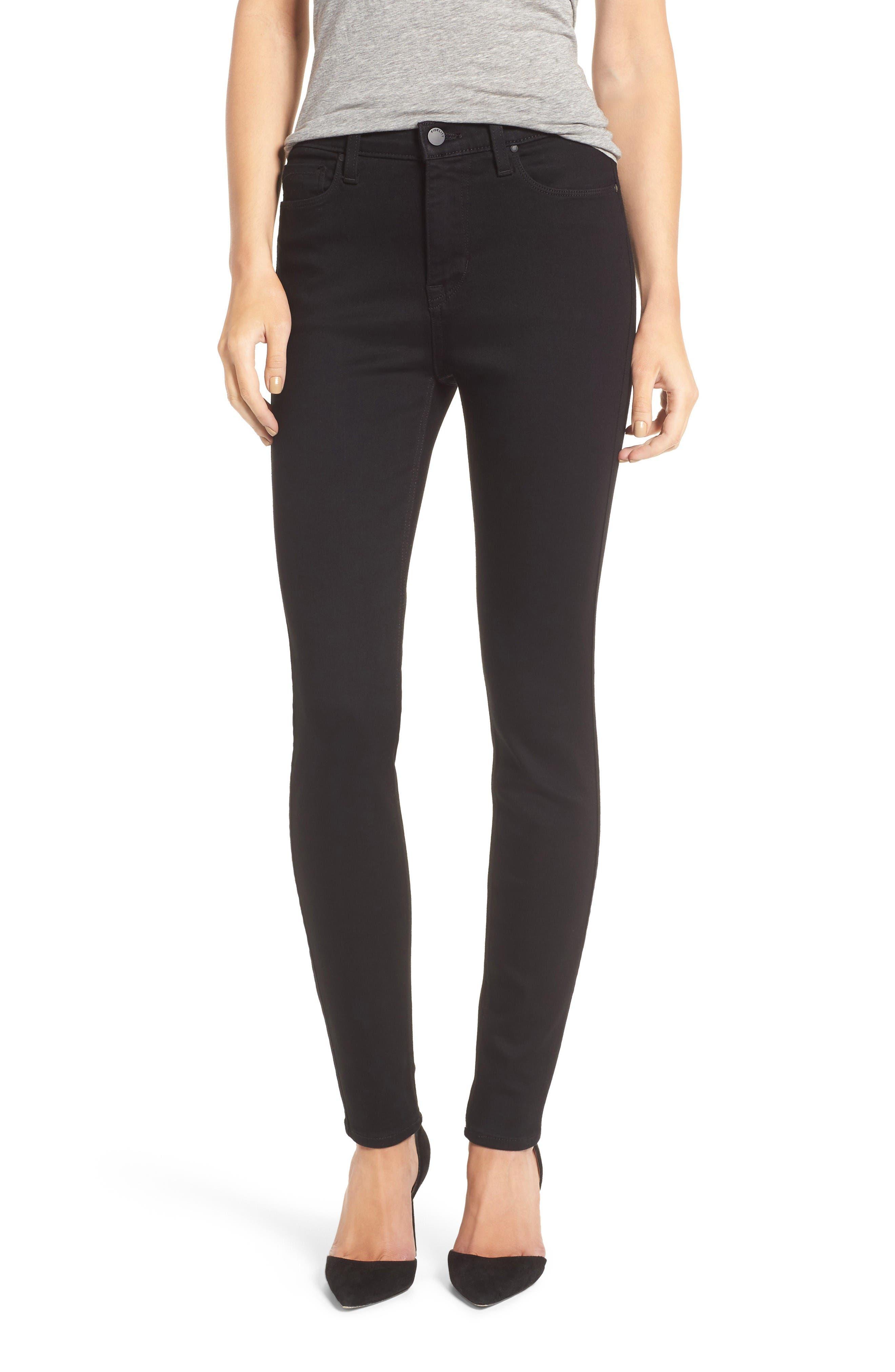 Fidelity Denim Gwen High Rise Skinny Jeans (Jett)